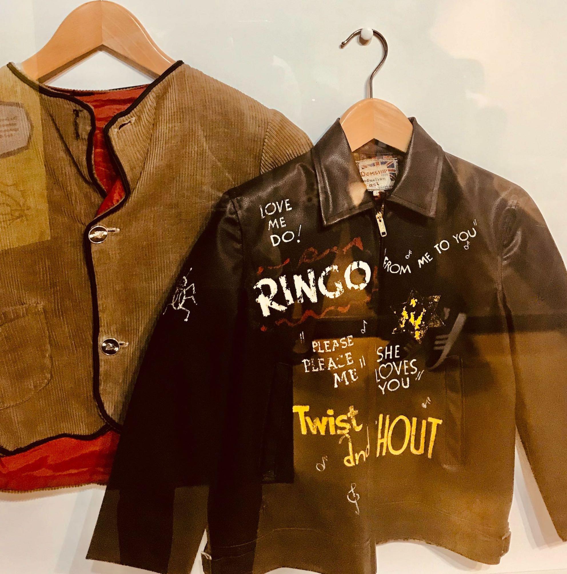 Antique Beatles jackets.