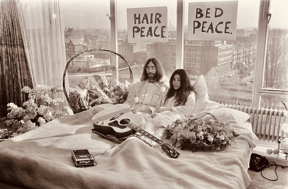 Bed Peace Double Fantasy John and Yoko Exhibition in Liverpool