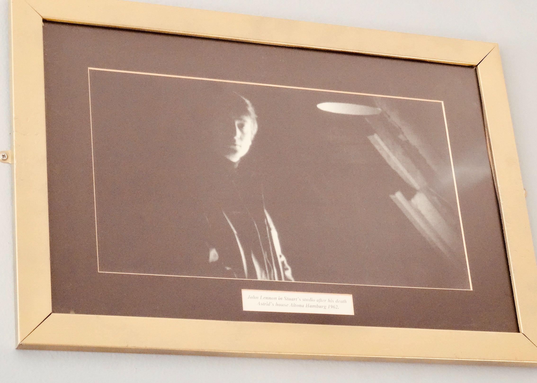 Black and white John Lennon photo Sefton Park Hotel Liverpool
