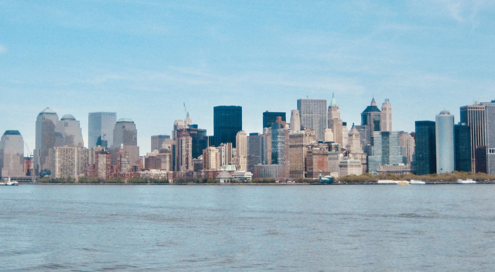 Boat cruise to Liberty Island NYC.