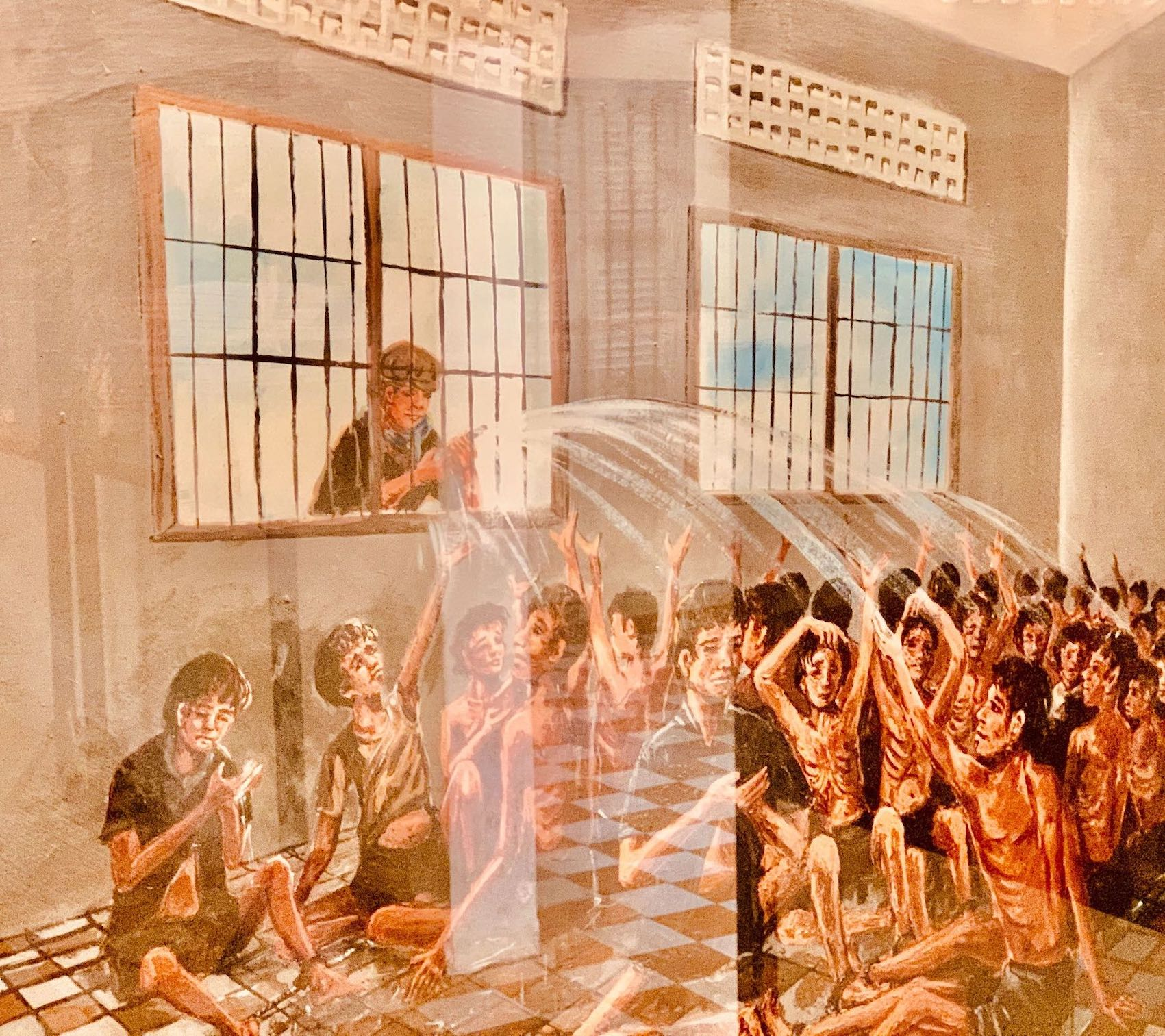 Cambodian genocide artwork in Phnom Penh