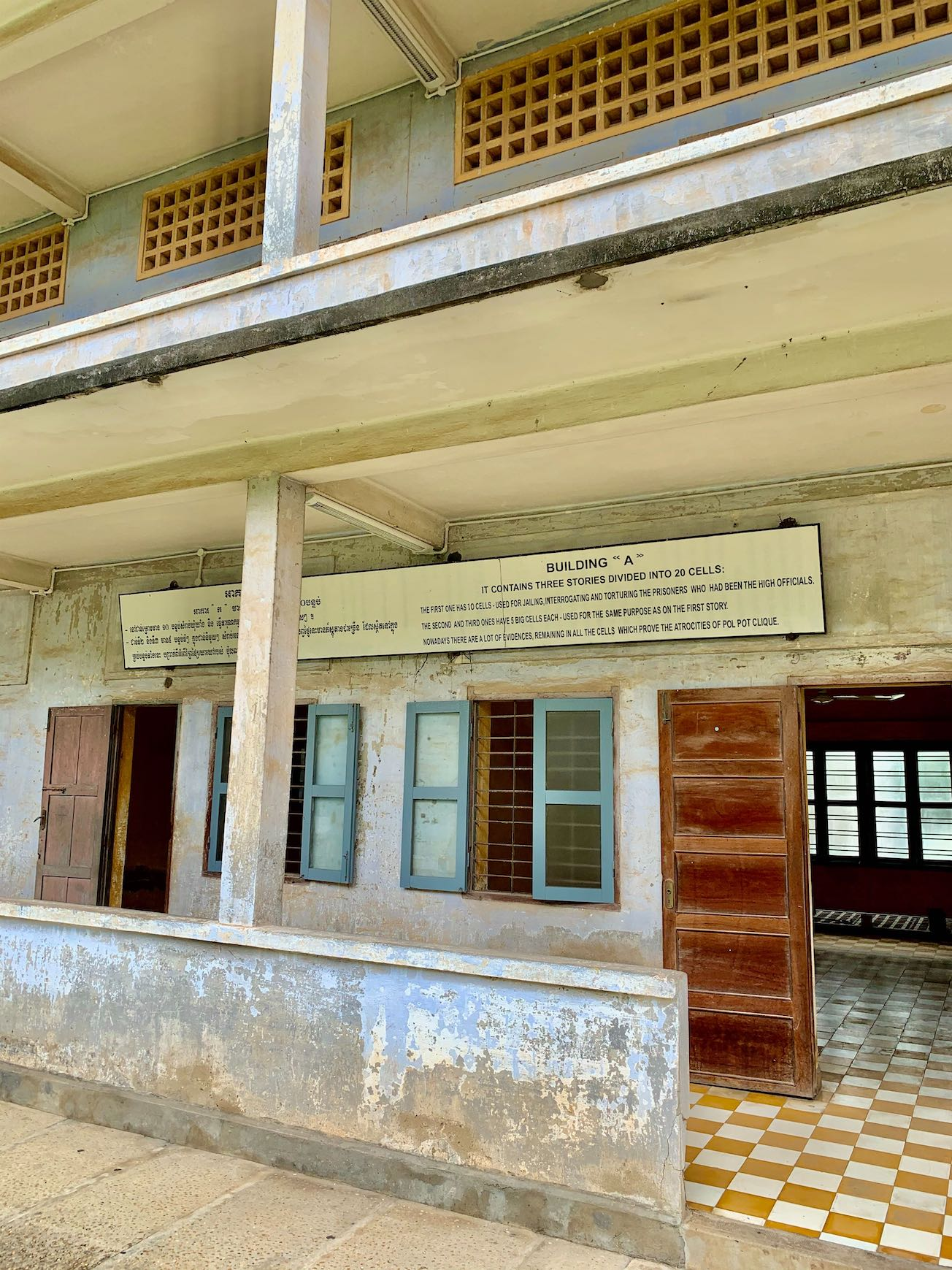 Cell Block A Tuol Sleng Genocide Museum