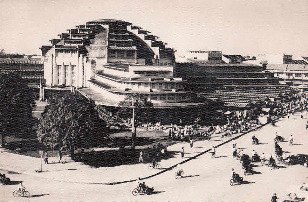 Central Market Phnom Penh in the 1960s.