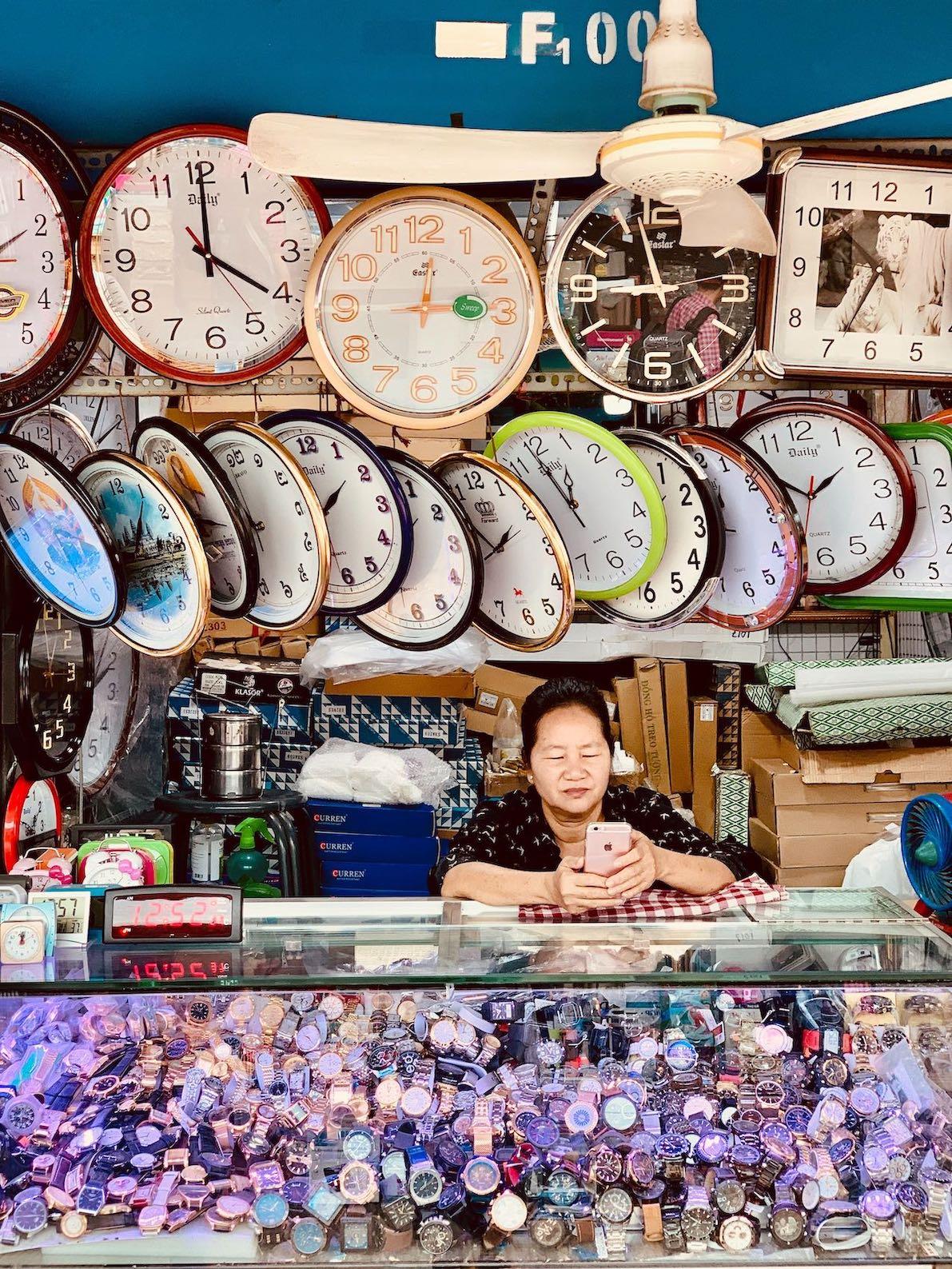 Cheap clocks and watches Phnom Penh Cambodia