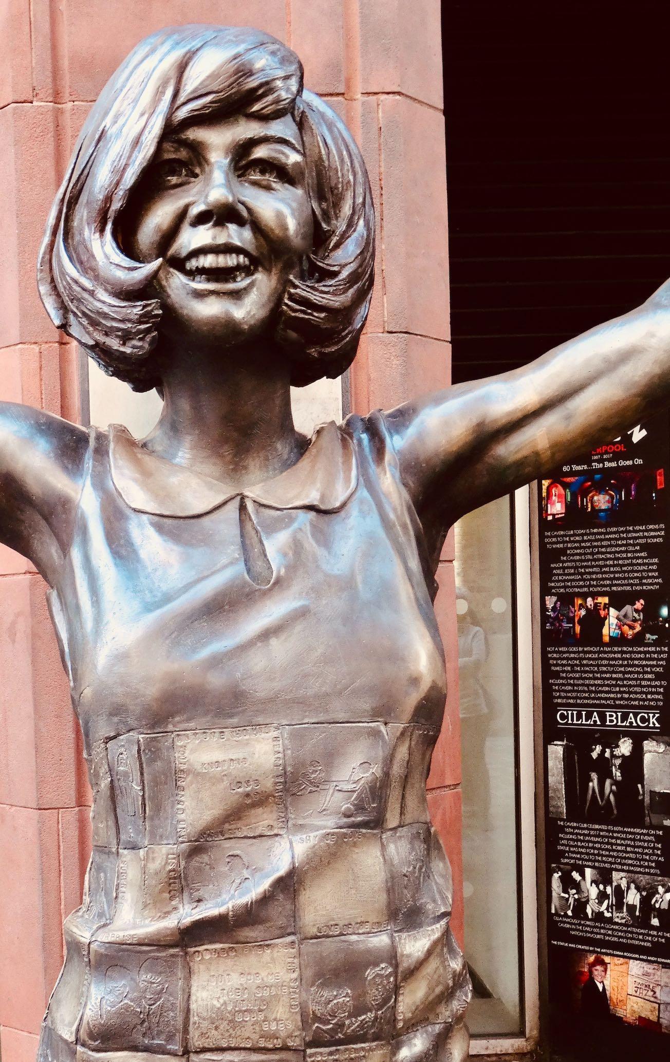 Cilla Black statue Liverpool.