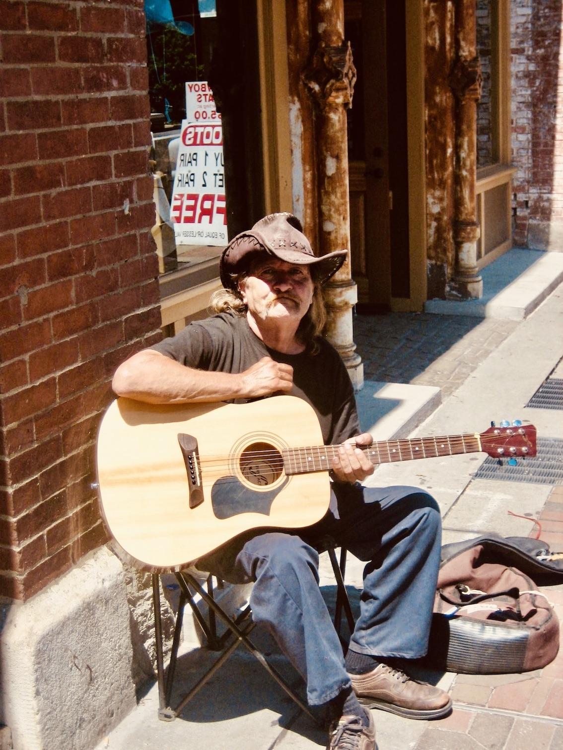 Cowboy busker downtown Nashville