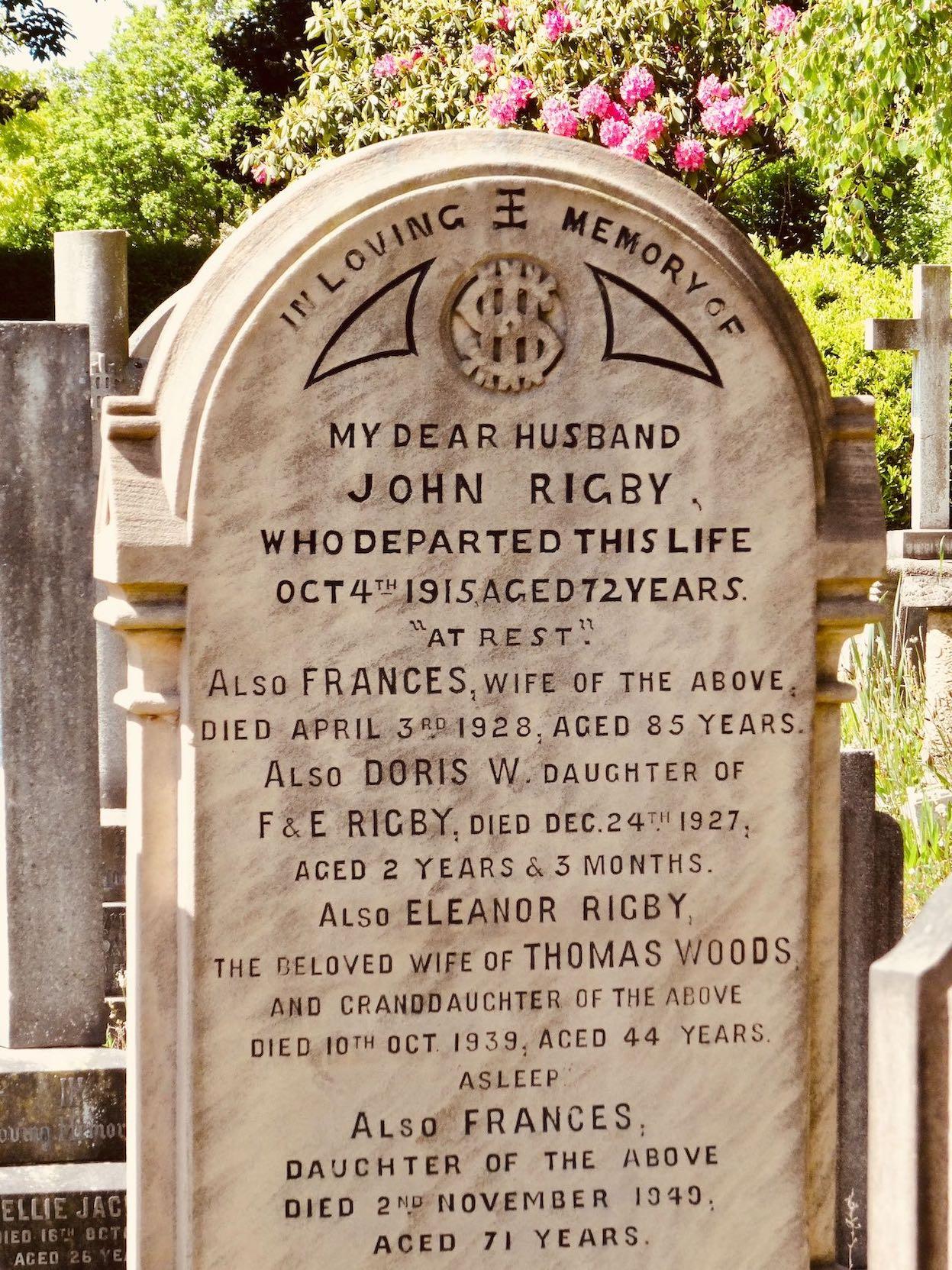 Eleanor Rigby grave Liverpool.