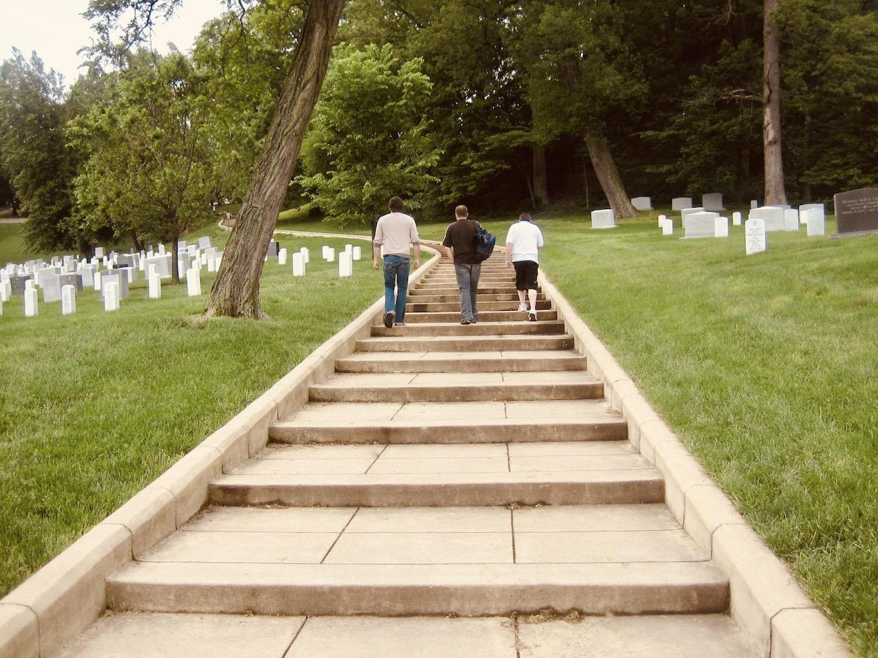 Exploring Arlington Cemetery.