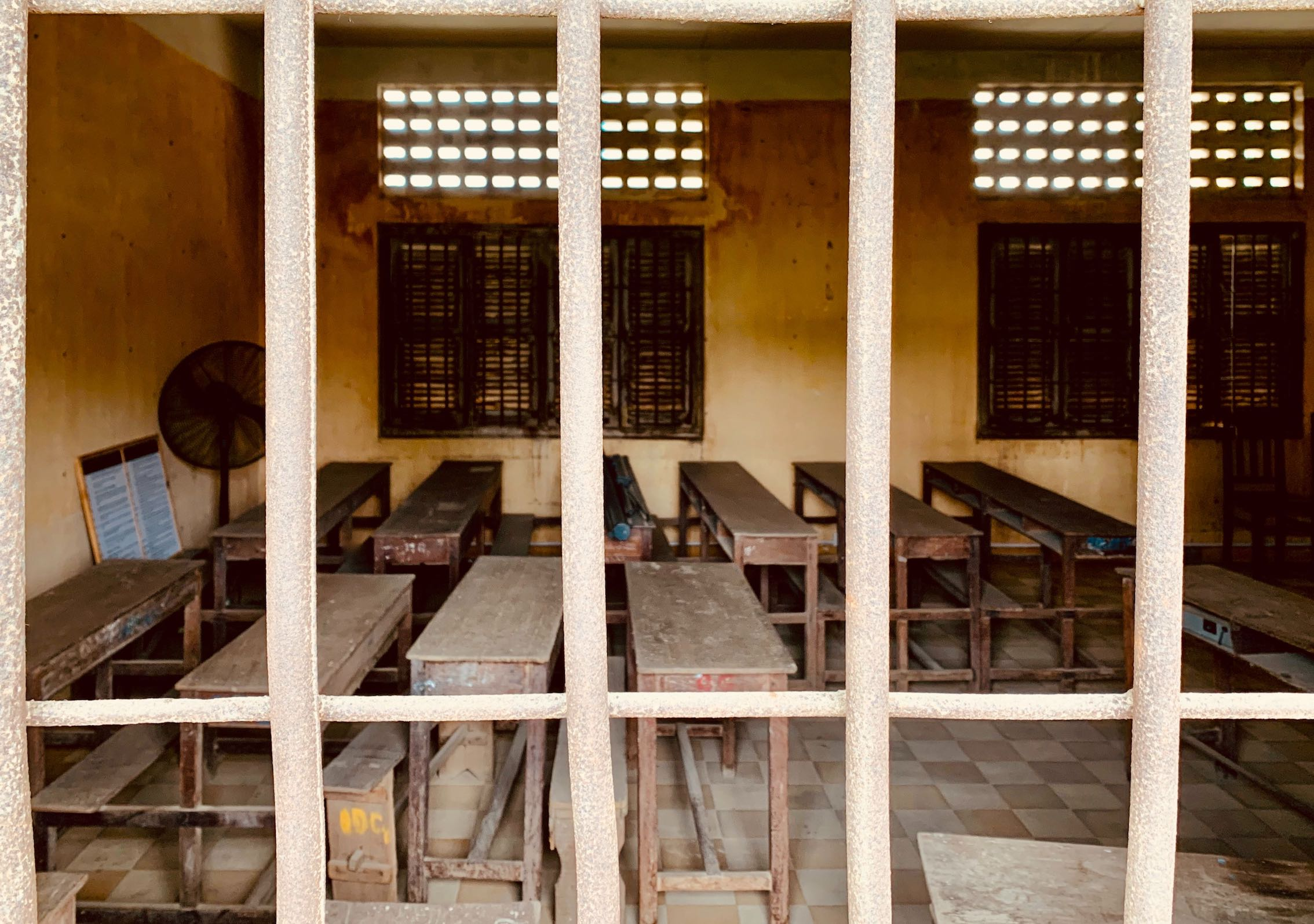 Former school classroom Tuol Sleng Genocide Museum