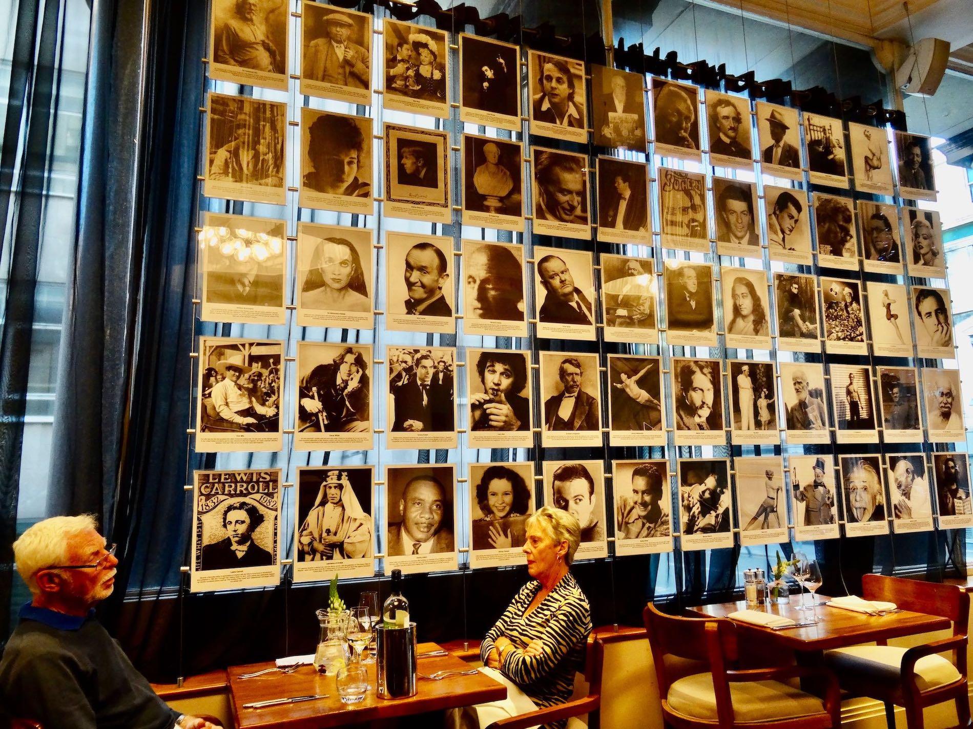 Inside Blake's Restaurant Liverpool.