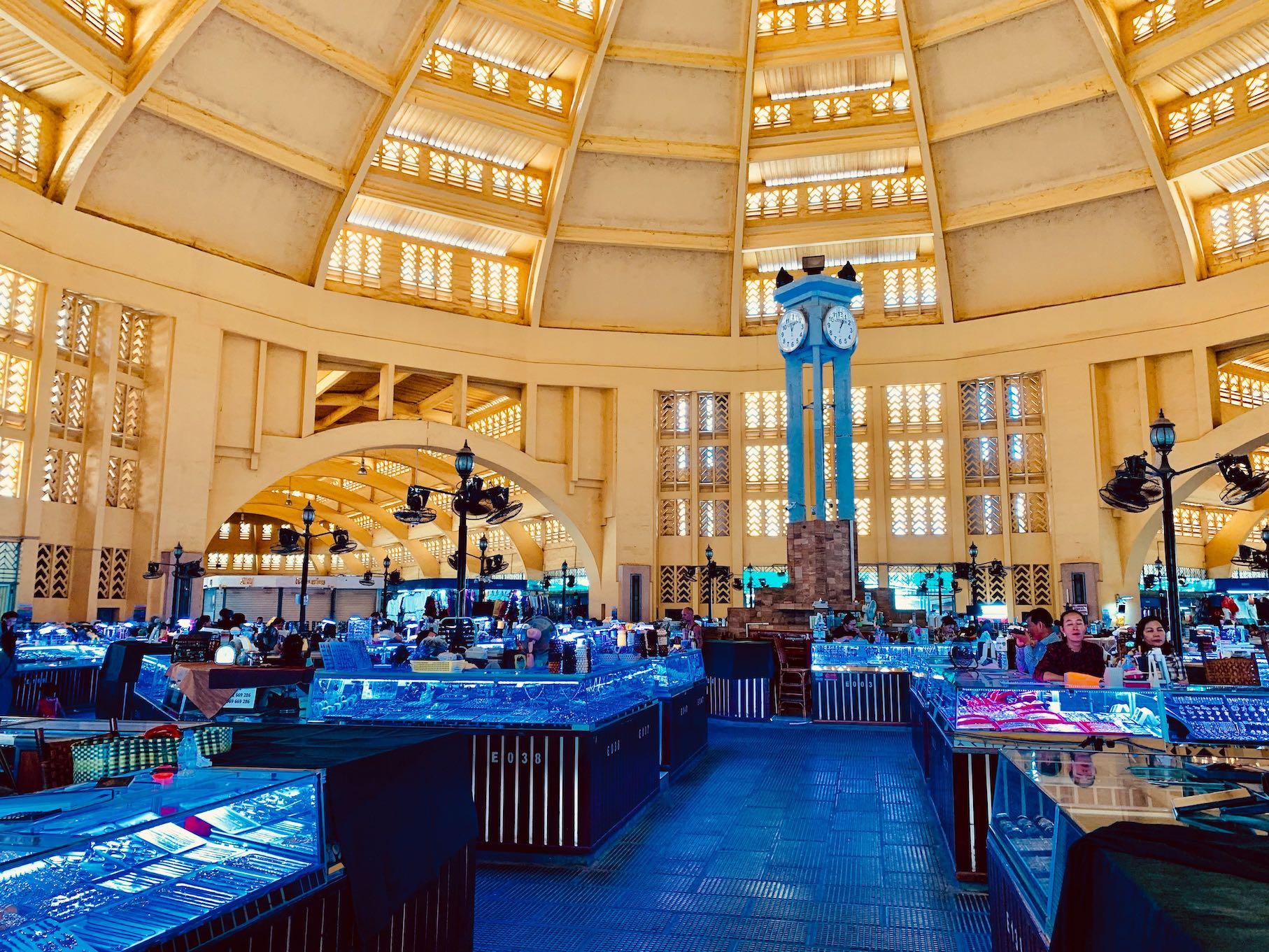 Inside Central Market in Phnom Penh