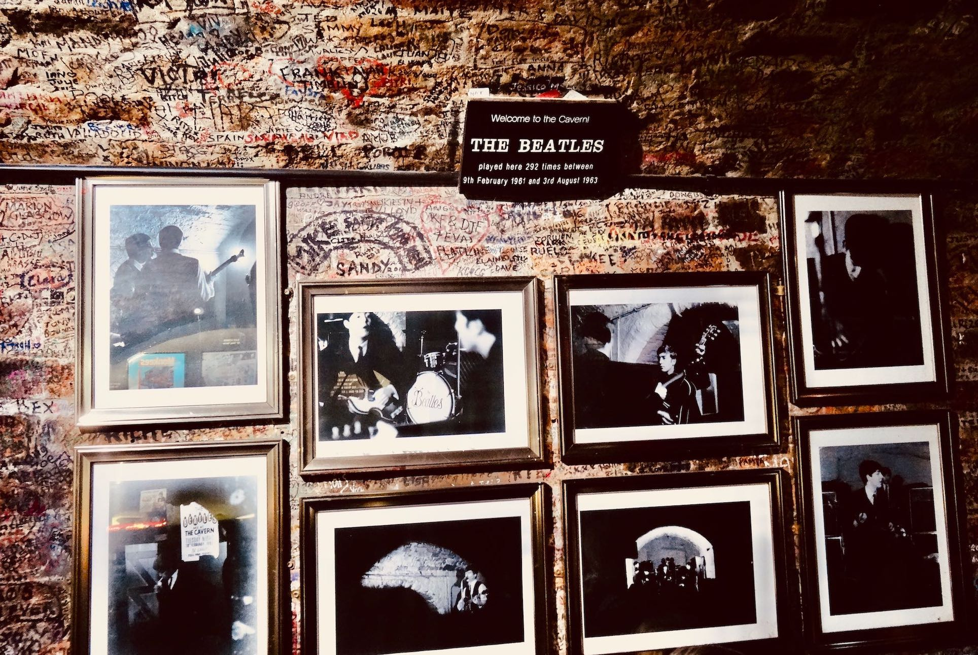 Inside the Cavern Club in Liverpool