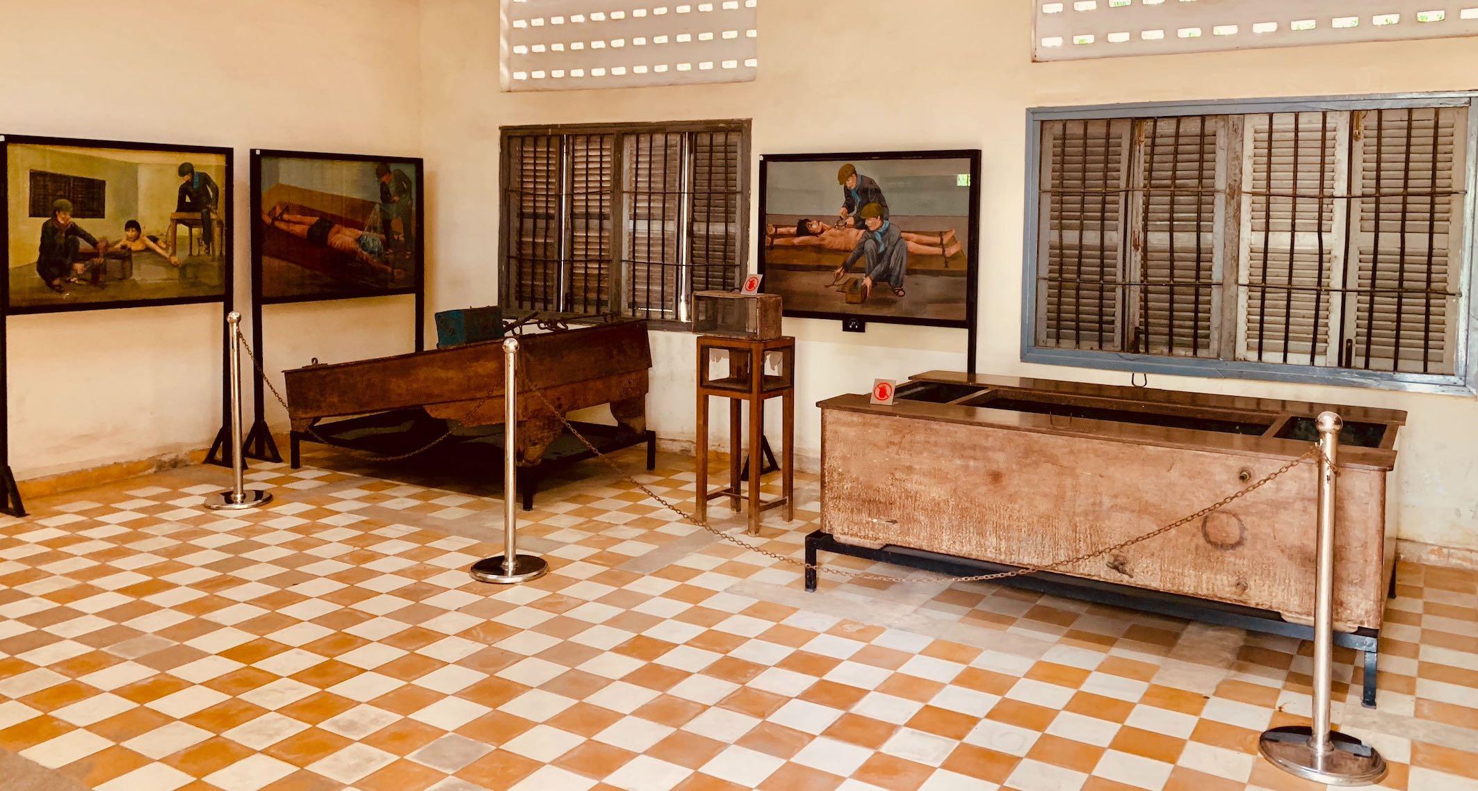Instruments of torture S-21 Prison Cambodia