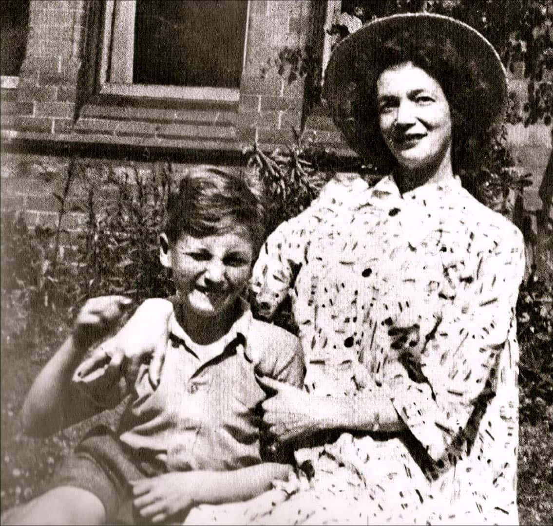 John Lennon with his mother Julia