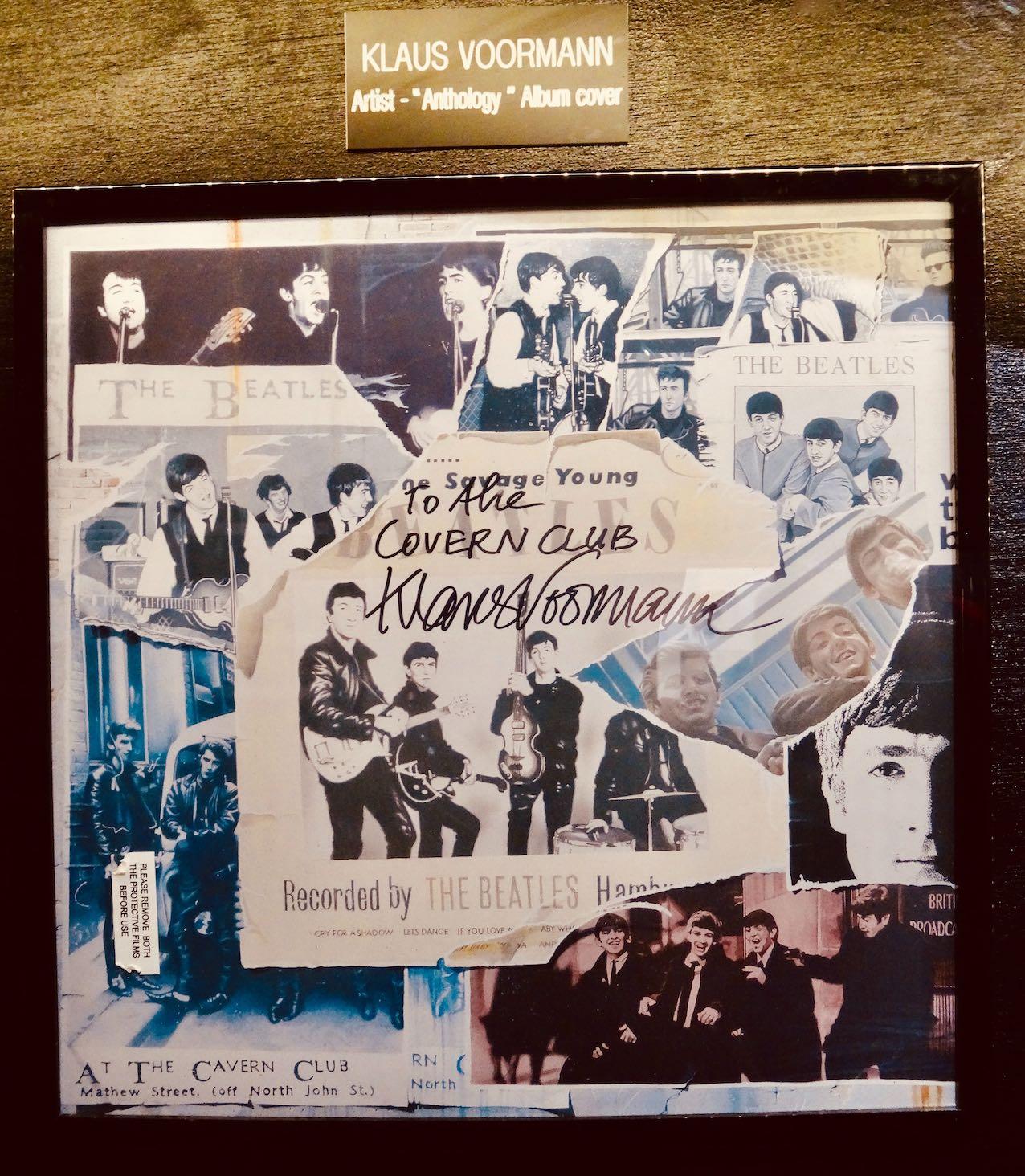 Klaus Voorman signed Beatles Anthology artwork