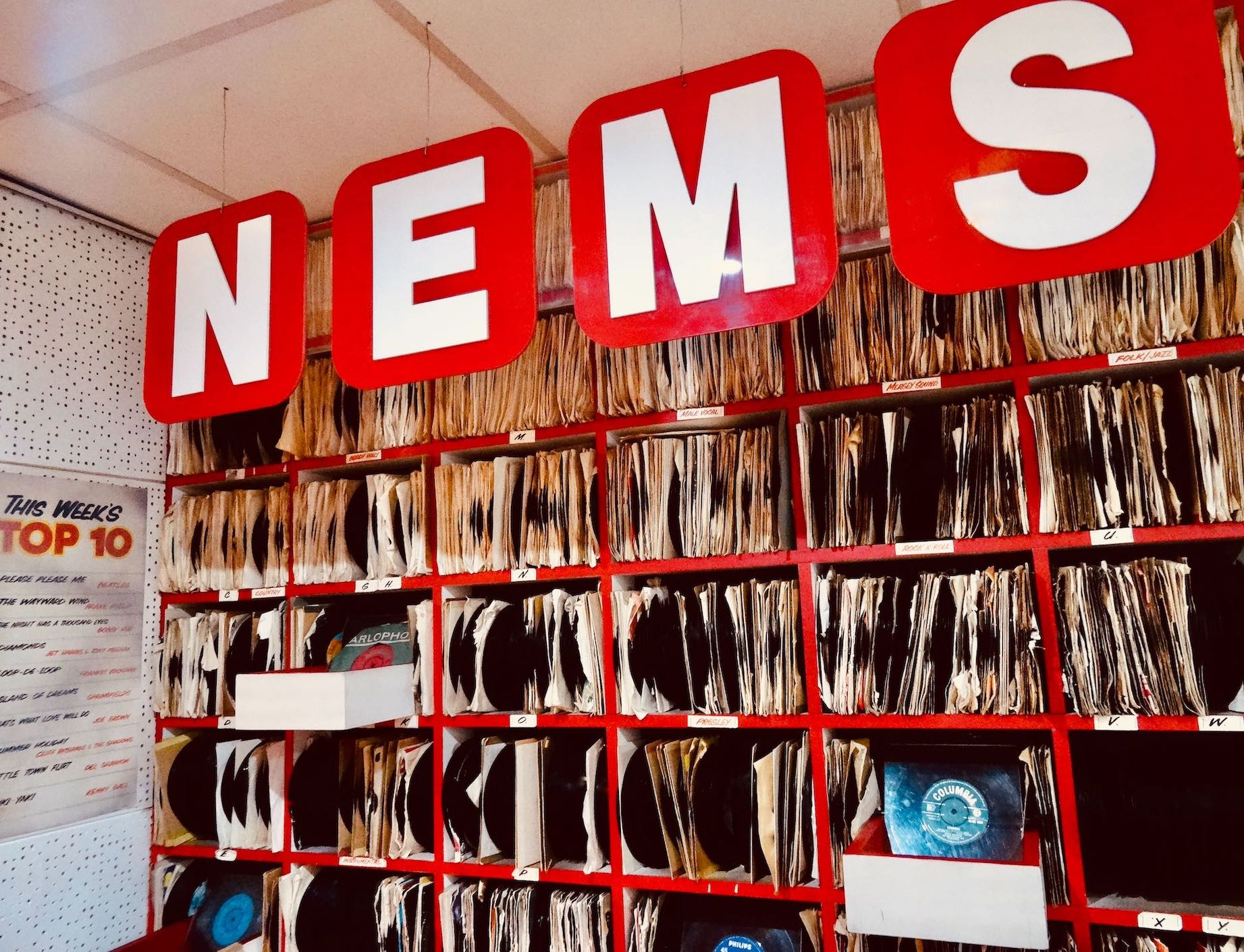 NEMS Record Store Liverpool 1960s