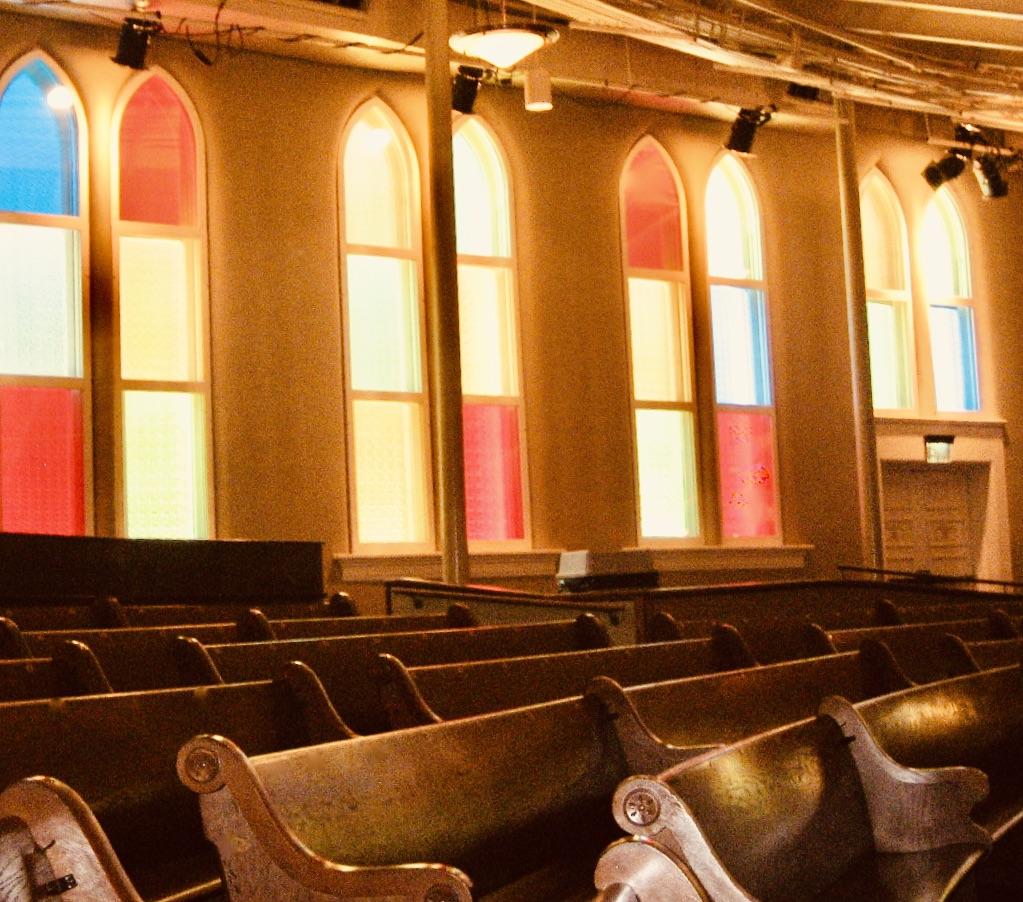Nashville Nostalgia the stained glass windows at The Ryman Auditorium