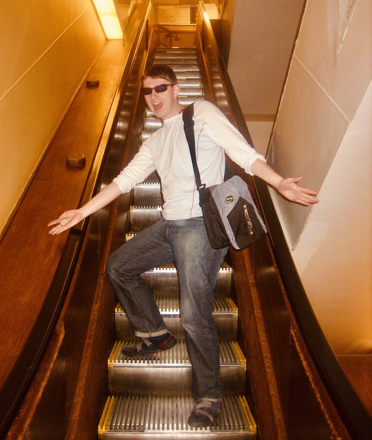 New York Nostalgia Macy's wooden escalators