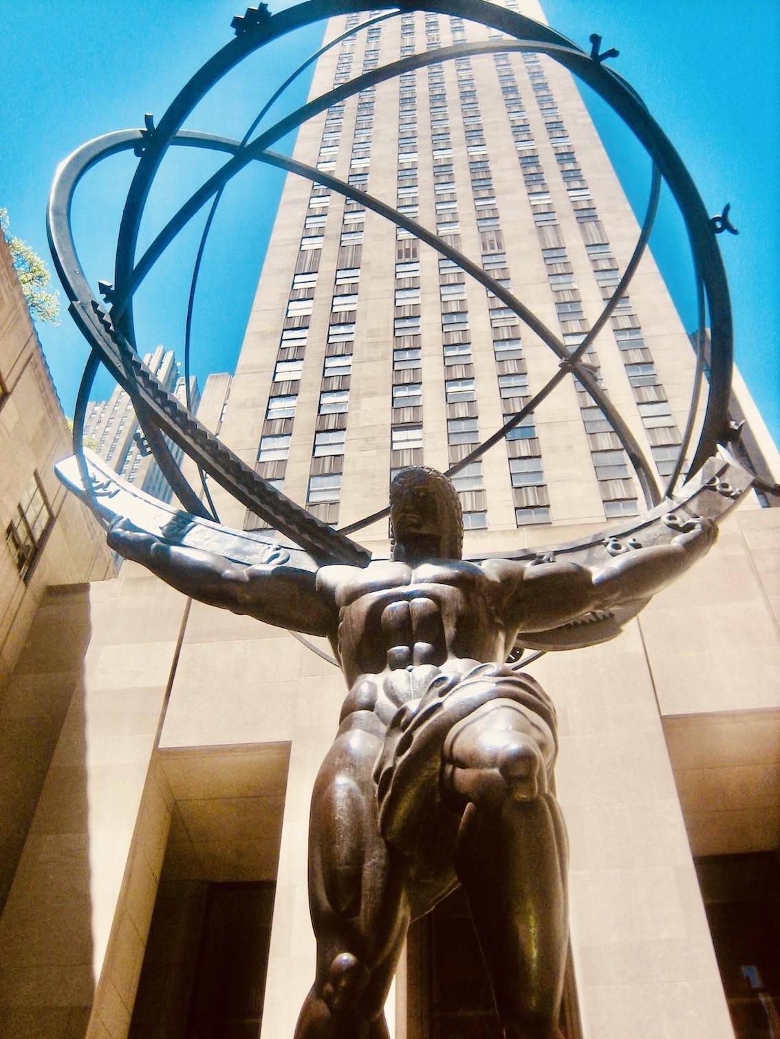 New York Nostalgia The Atlas Statue.
