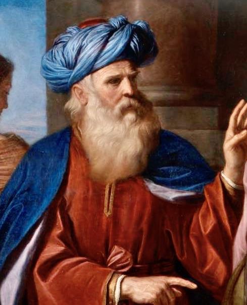 Painting of Abraham by Guercino Pinacoteca di Brera