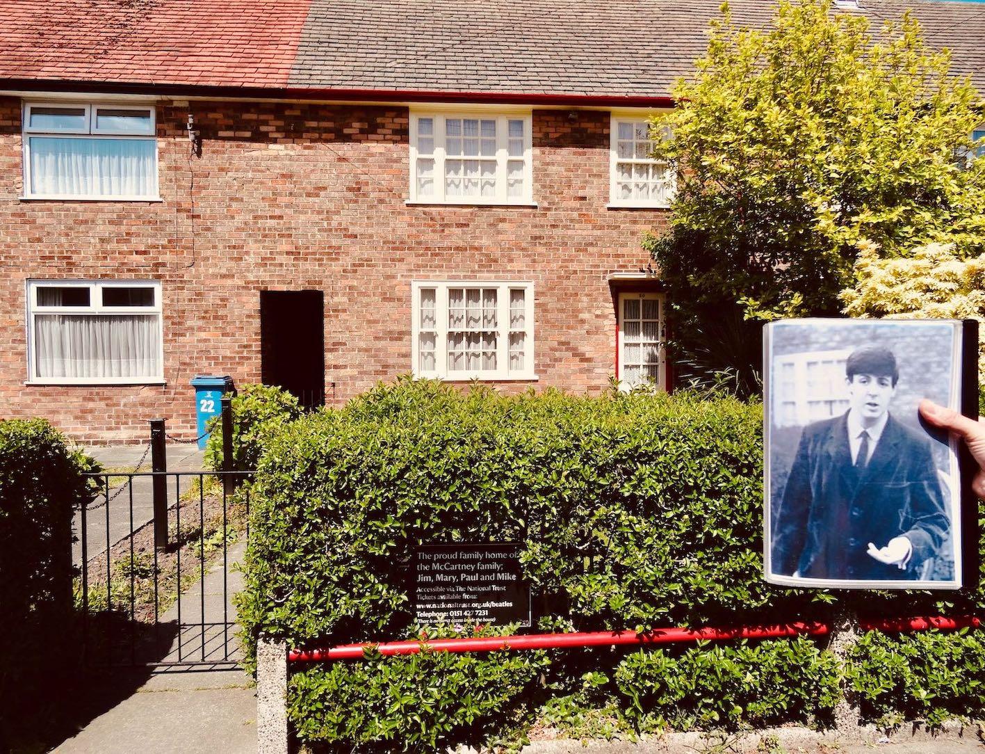 Paul McCartney's childhood home in Liverpool
