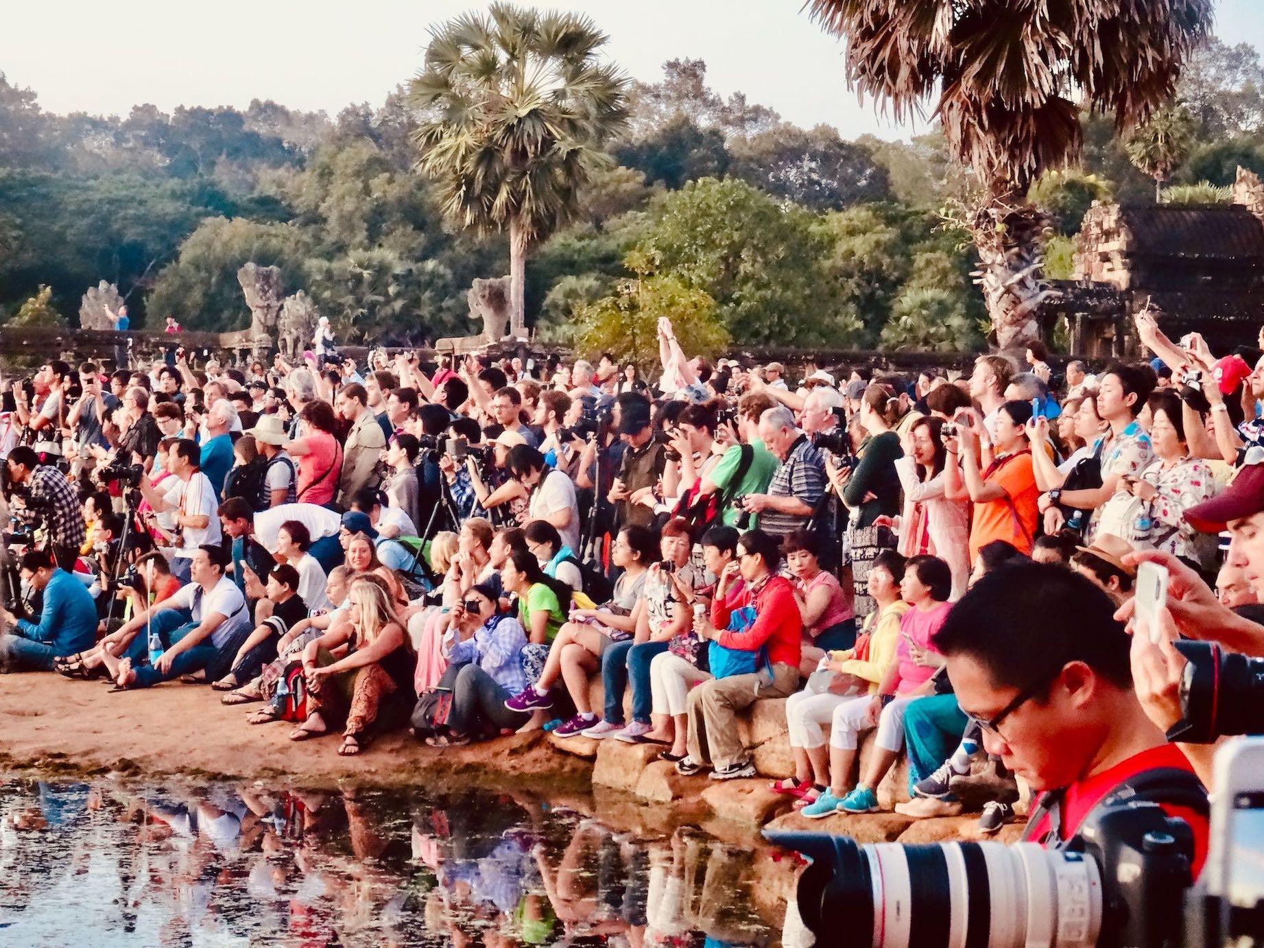 Photographers Sunset at Angkor Wat