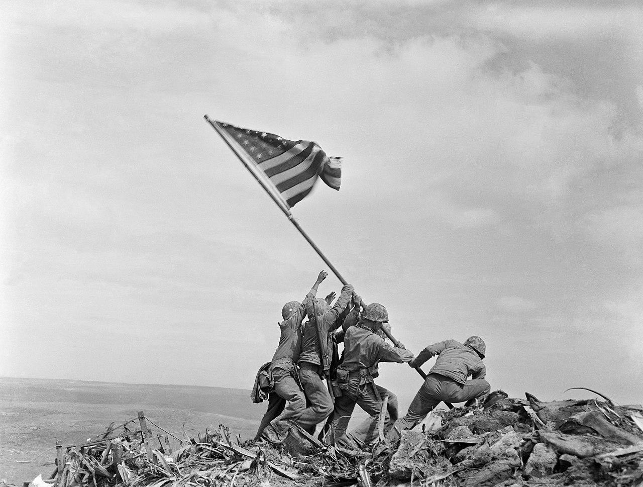 Raising of the Flag on Iwo Jima by Joe Rosenthal
