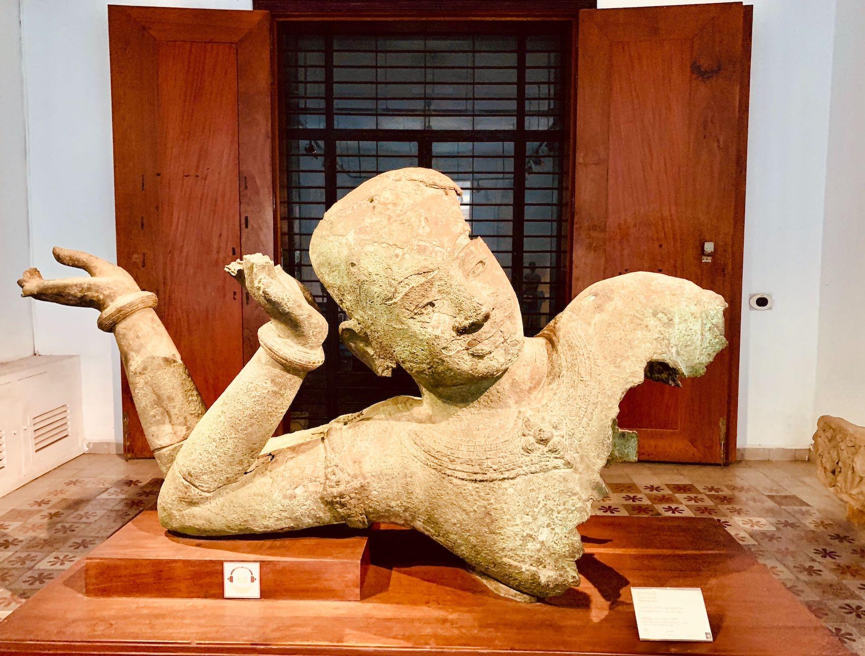 Reclining Vishnu Statue Cambodia.
