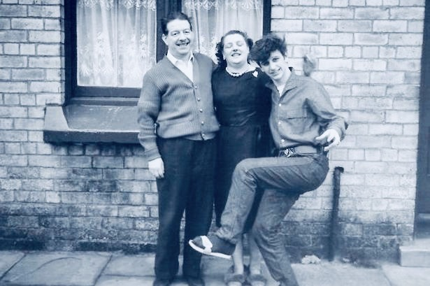 Ringo Starr with his parents Admiral Grove Liverpool