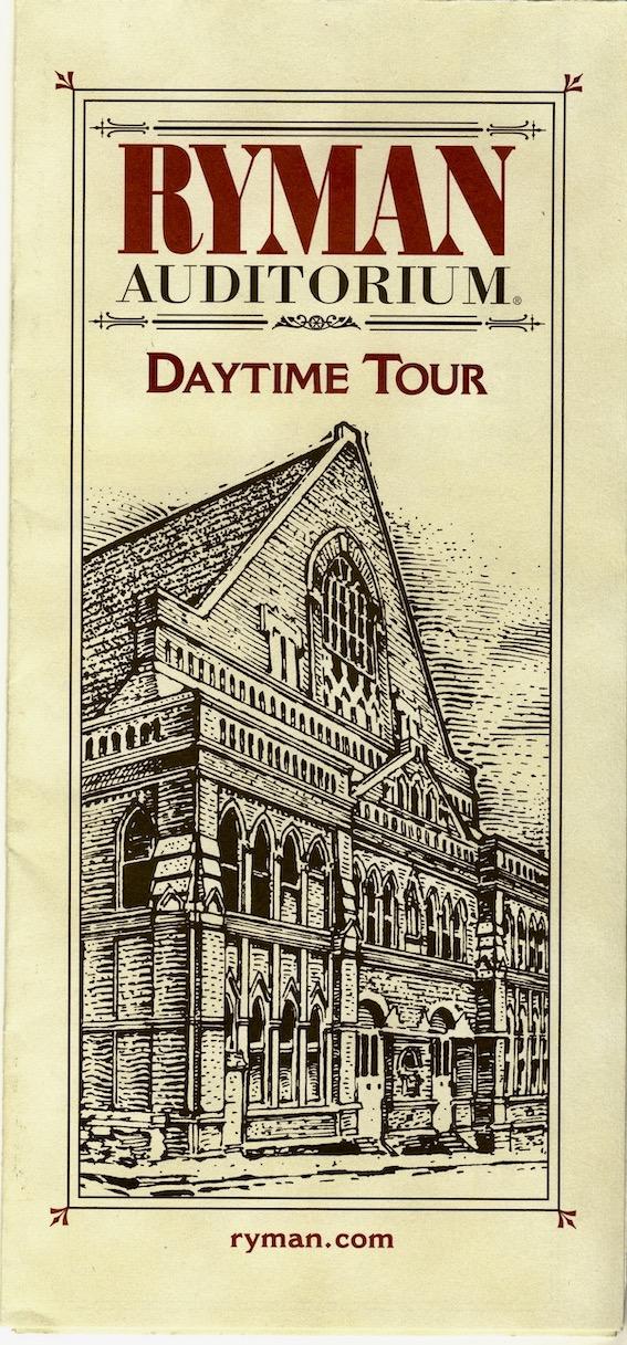 Ryman Auditorium Daytime Tour.