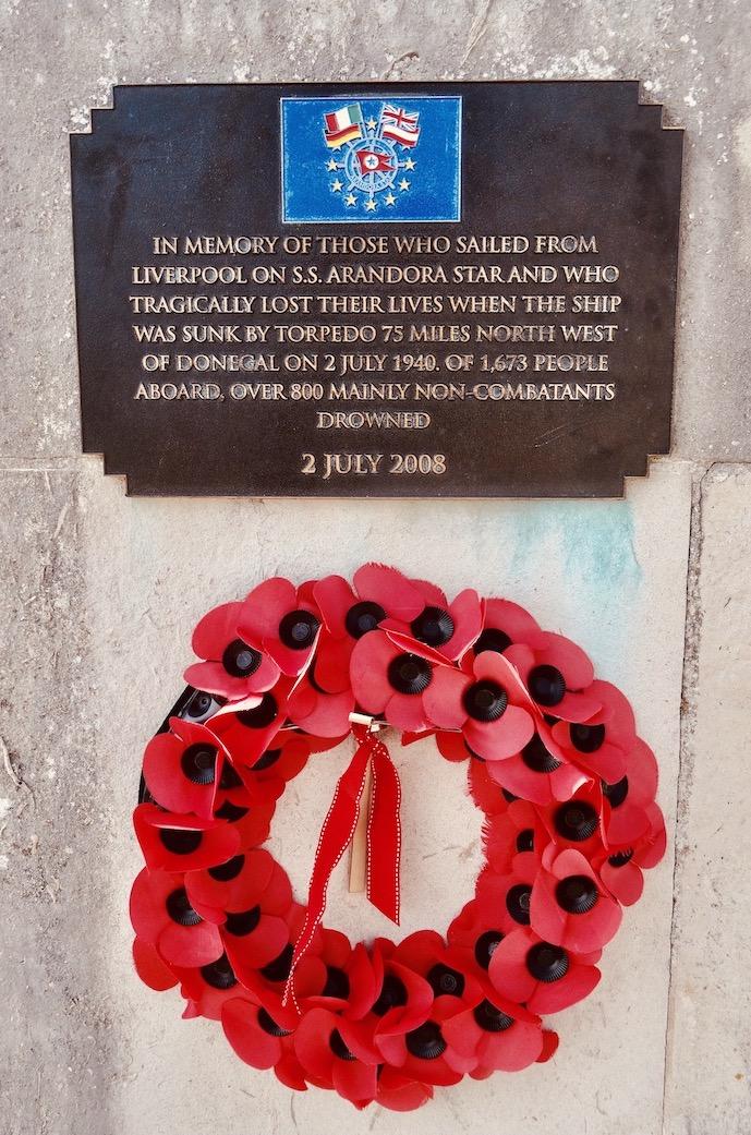S.S. Arandora Memorial The Liverpool Waterfront