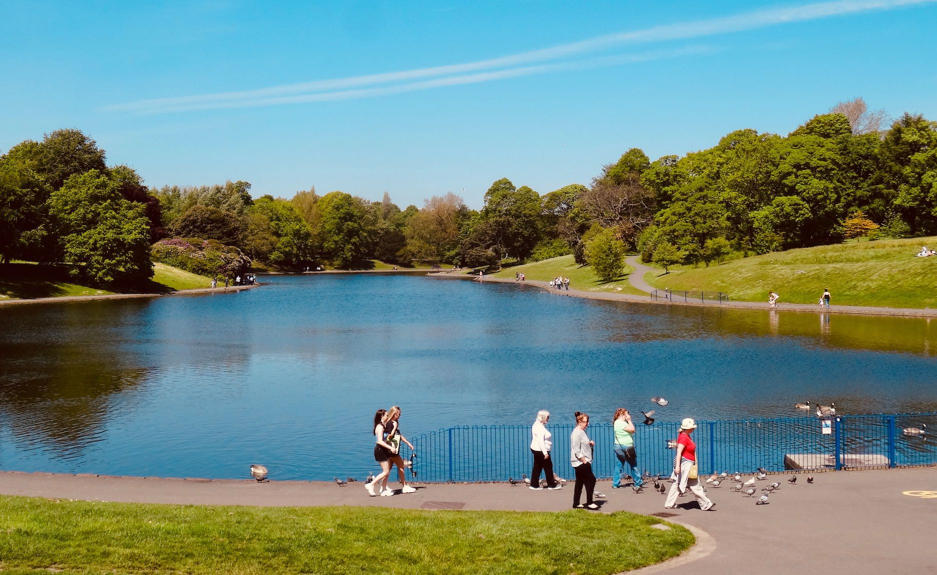 Sefton Park in Liverpool.