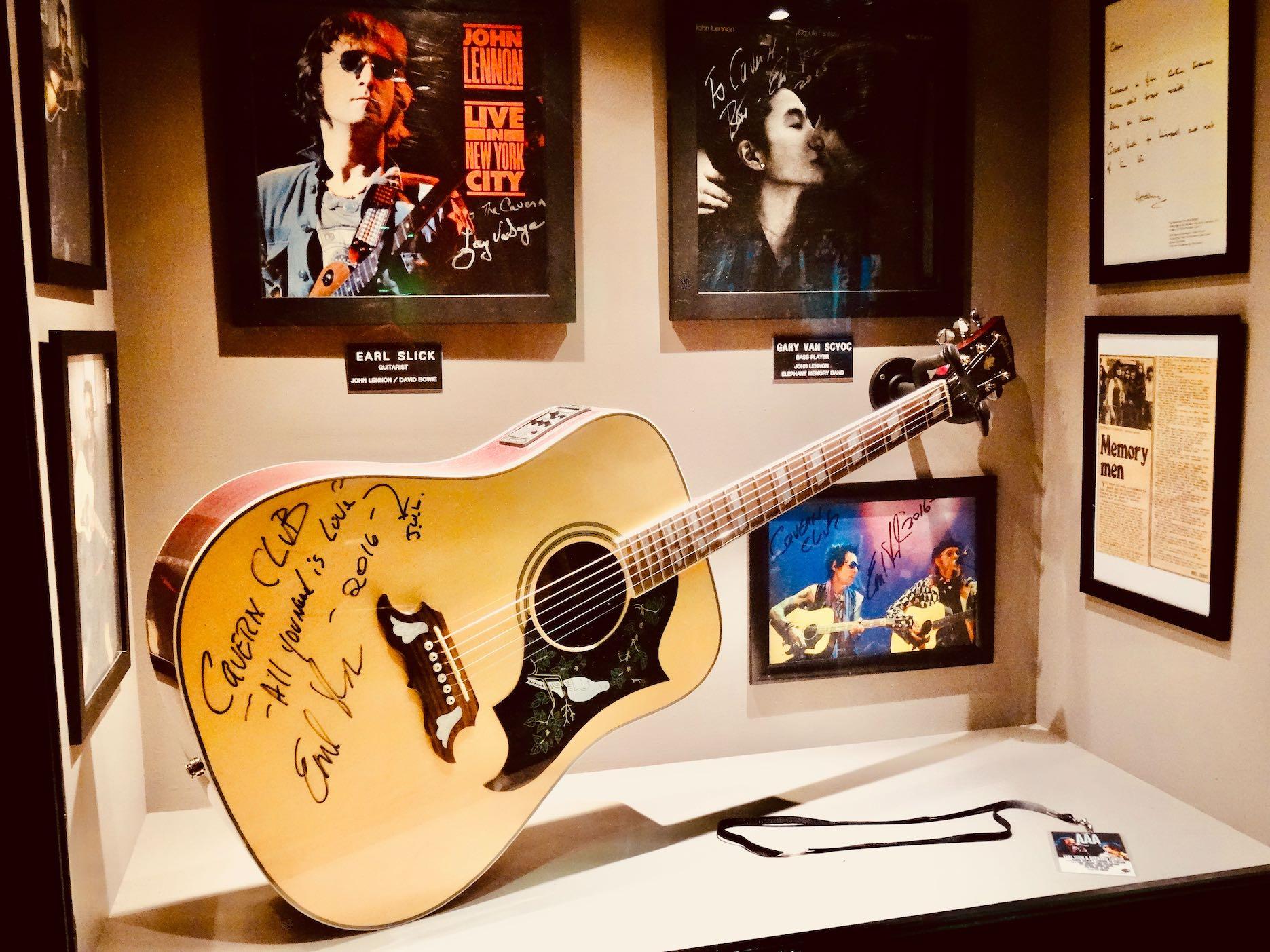 Signed rock memorabilia Cavern Pub Liverpool
