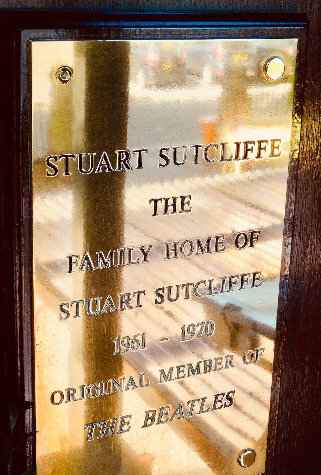 Stuart Sutcliffe Sefton Park Hotel.