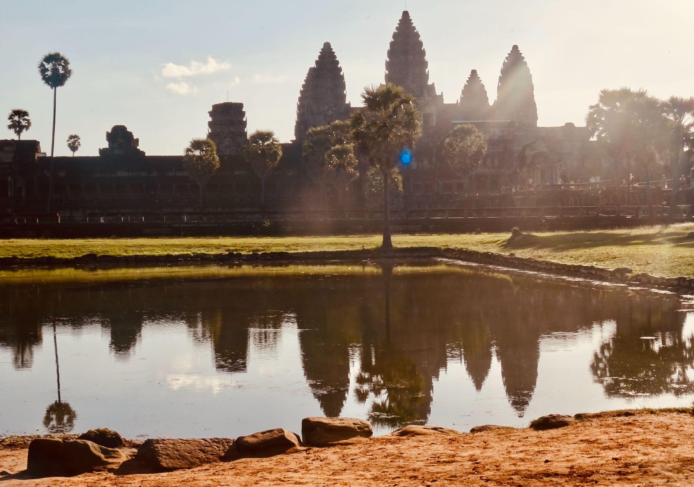 Sunshine rays at Angkor Wat.