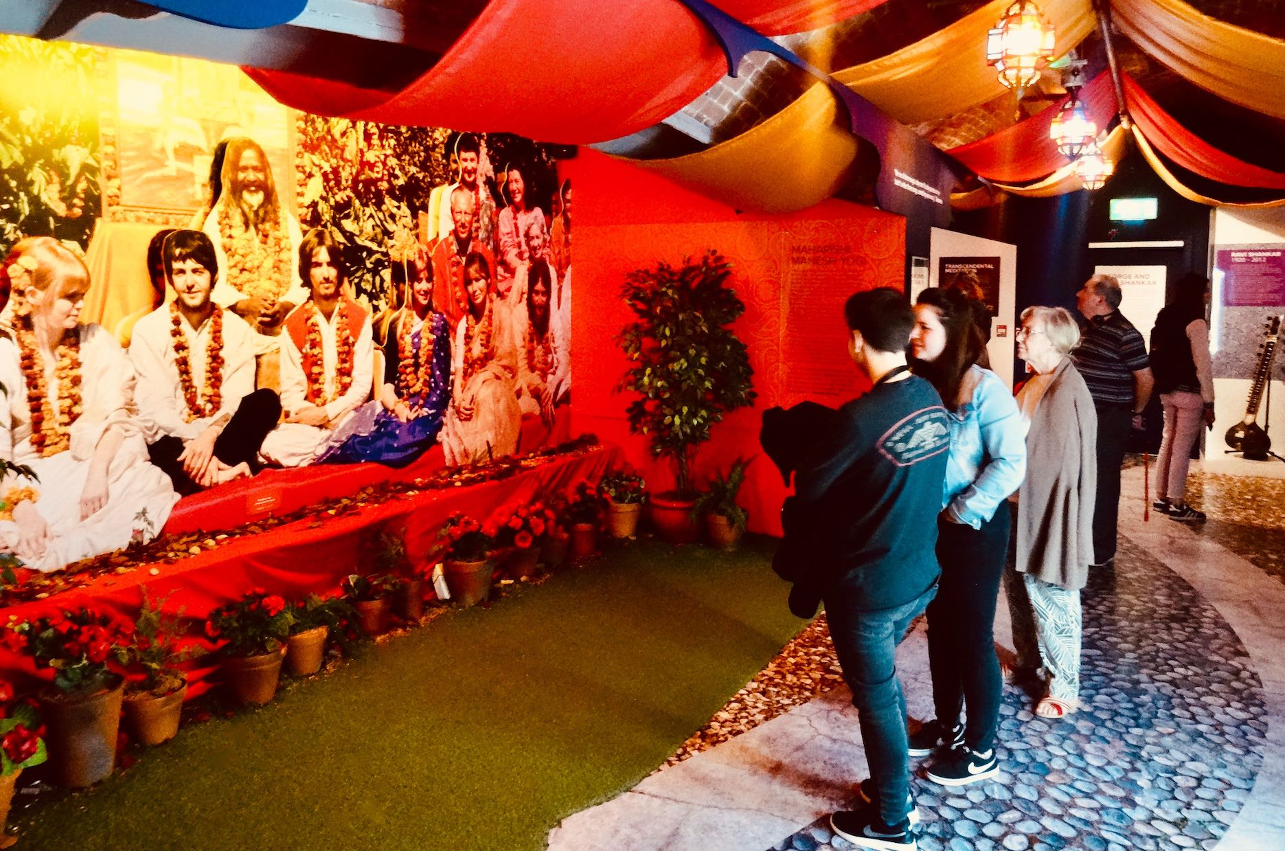 The Beatles in Rishikesh exhibit.