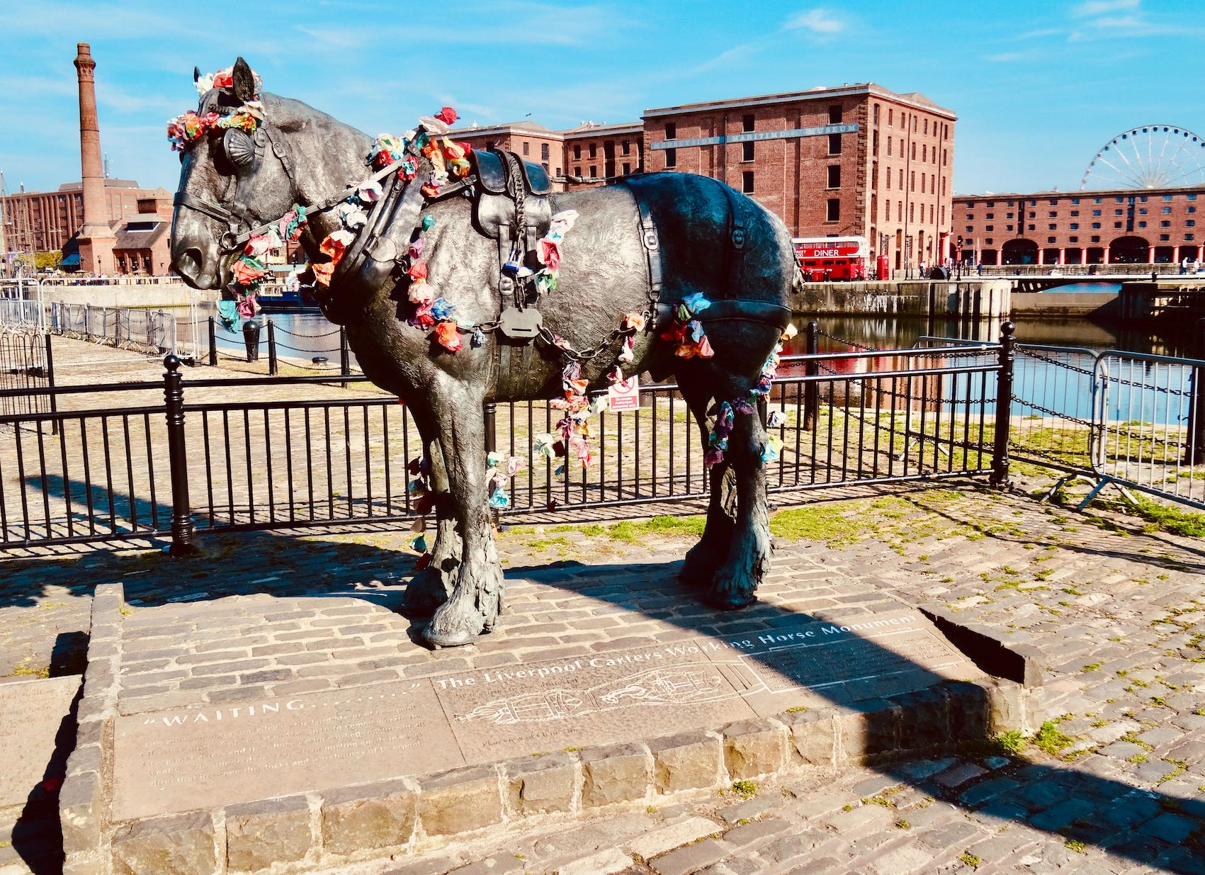 The Liverpool Carters Working Horse Monument