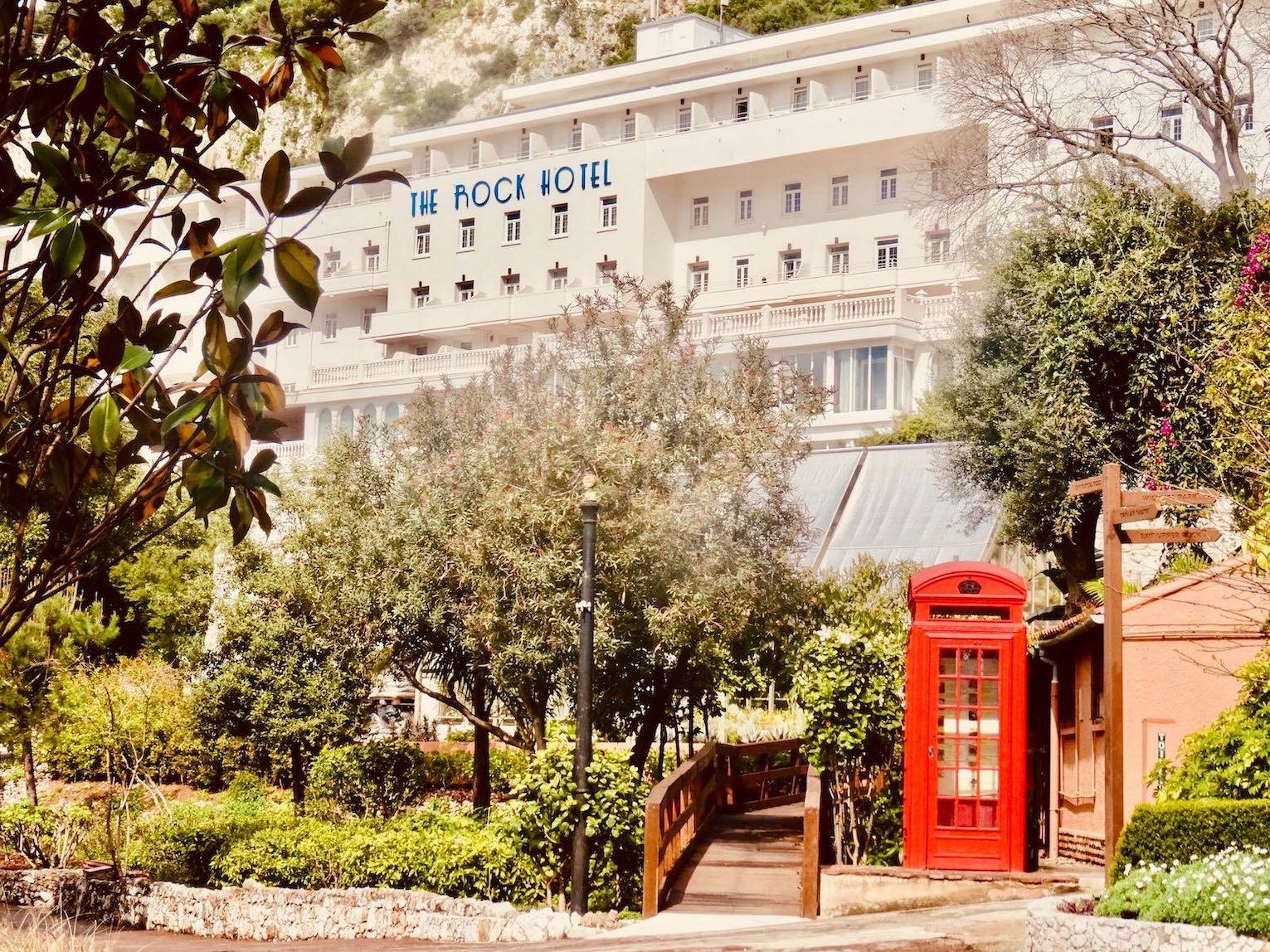 The Rock Hotel in Gibraltar.