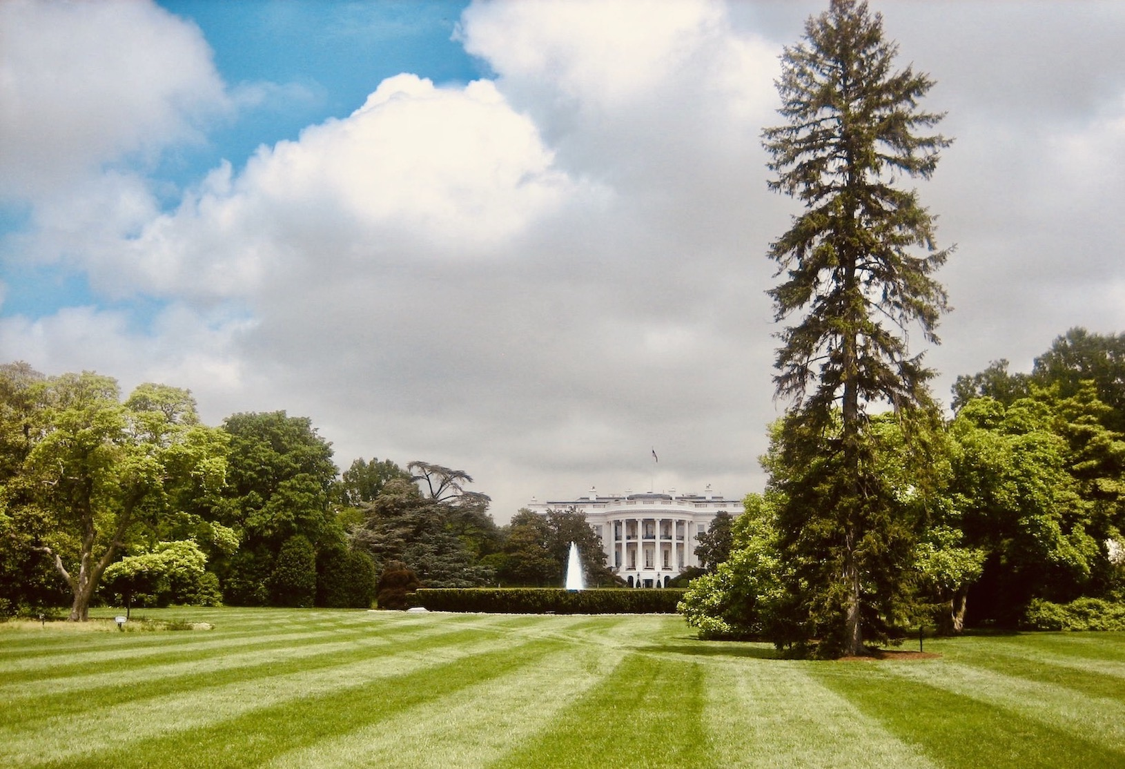 The White House South Lawn.