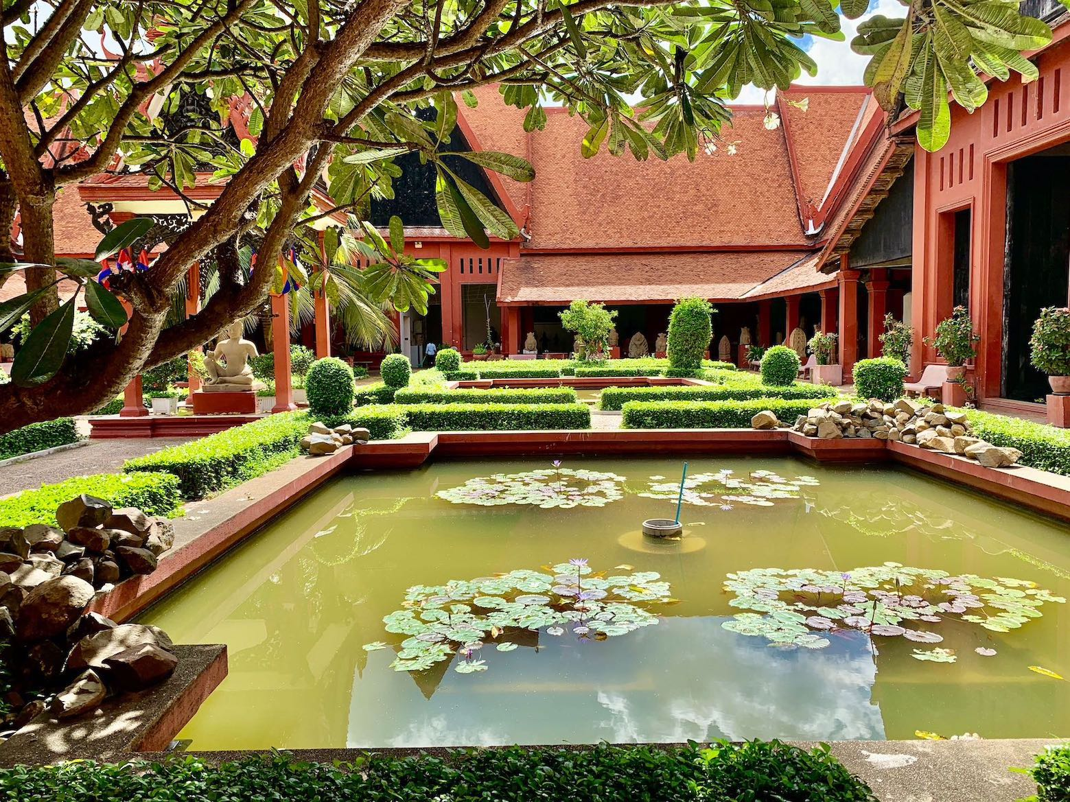 The beautiful garden at The National Museum of Cambodia
