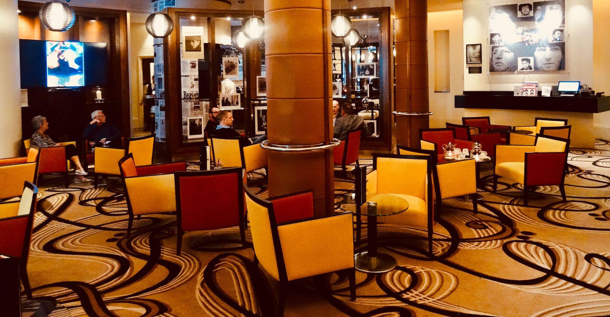 The main lounge at Hard Days Night Hotel