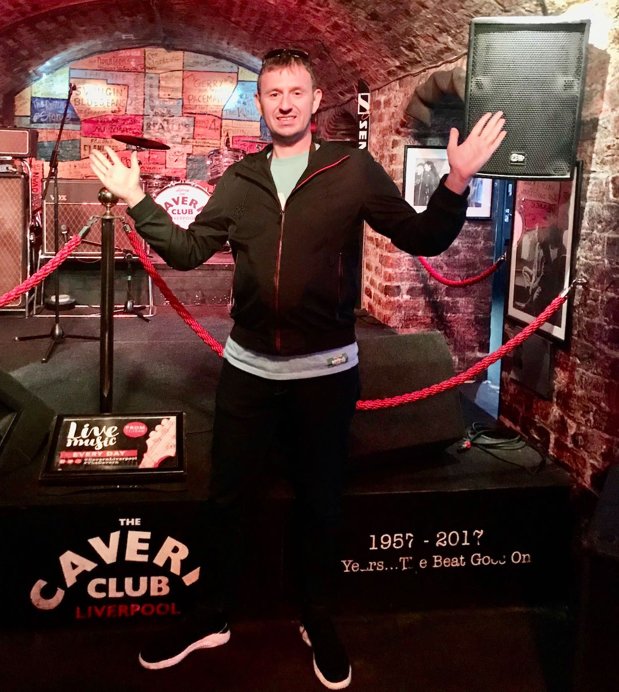 The stage at The Cavern Club in Liverpool