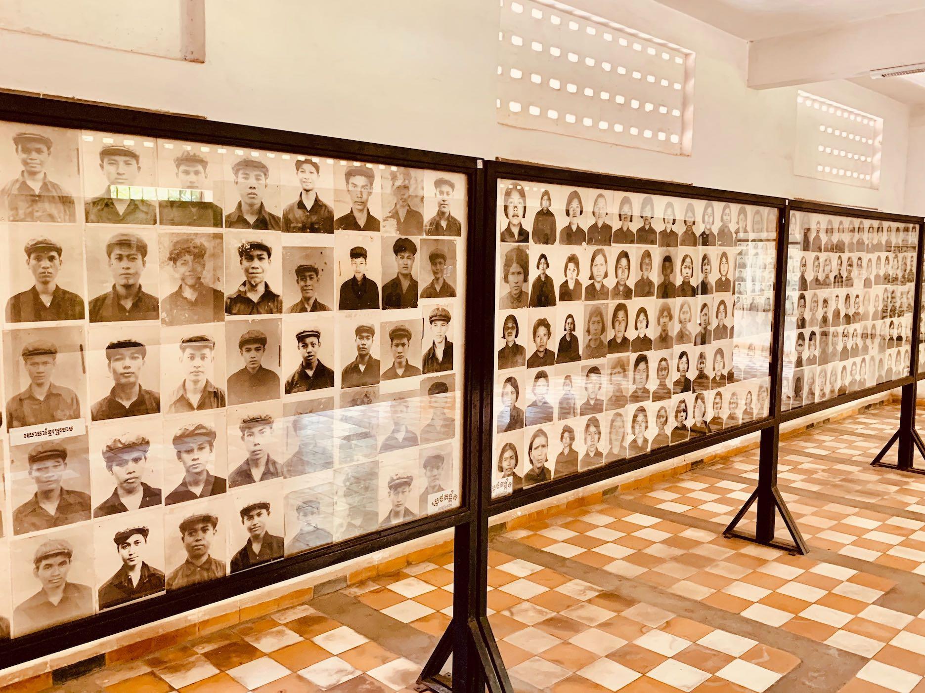 The victims of Security Prison 21 Phnom Penh Cambodia