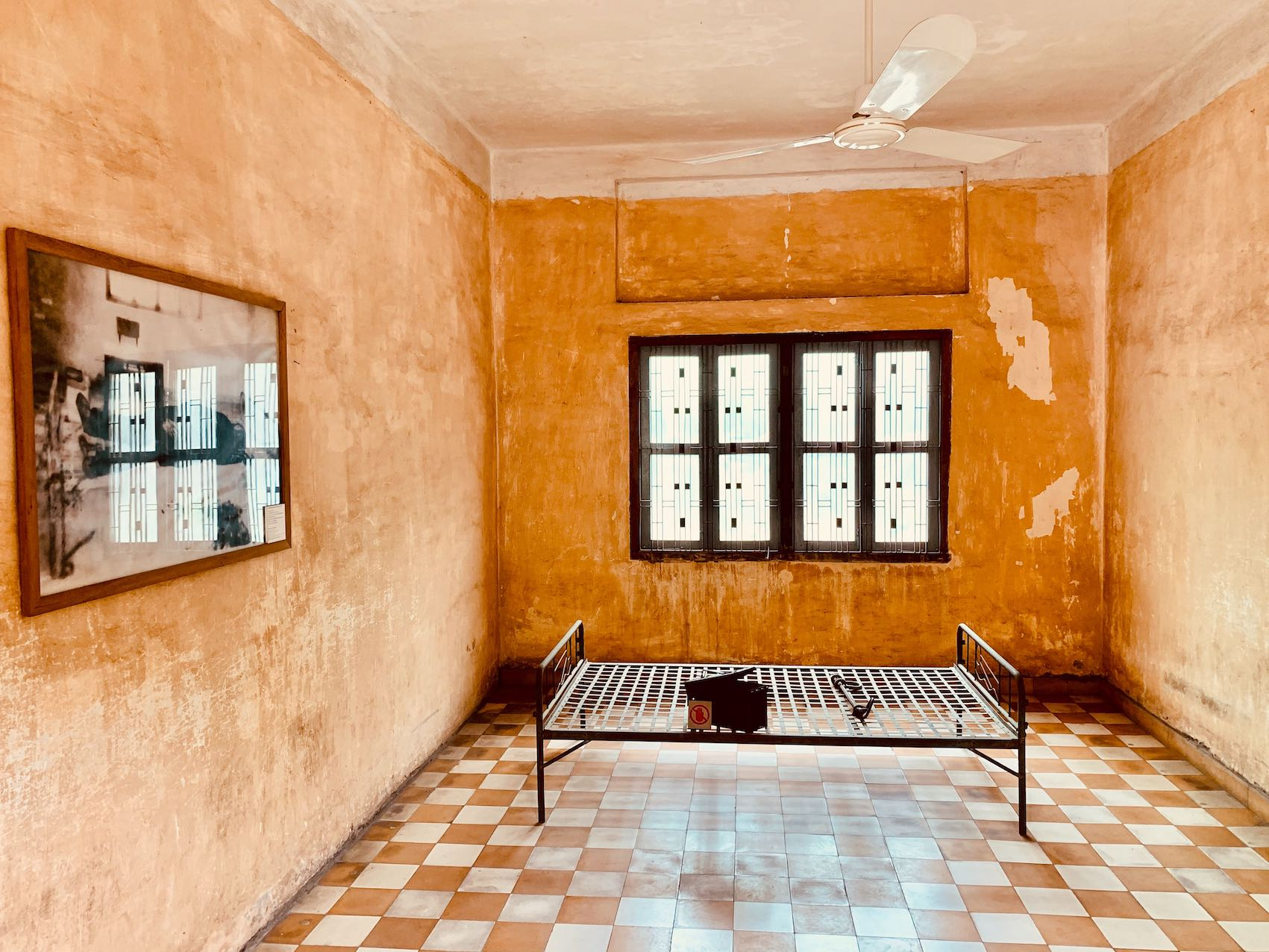 Torture room Building A Tuol Sleng Genocide Museum