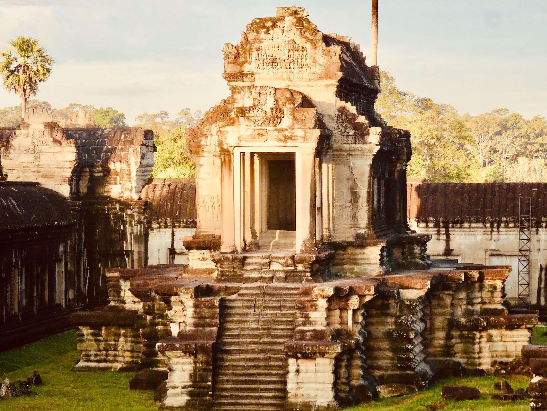 Visiting Angkor Wat.
