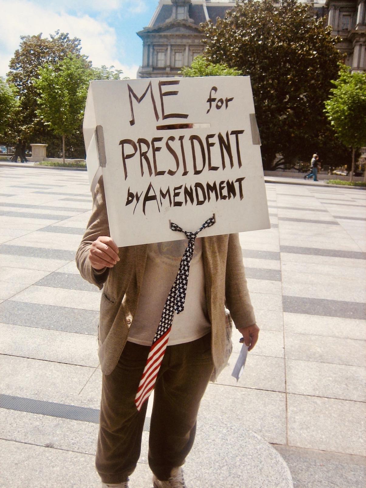 Washington DC Nostalgia Me For President!