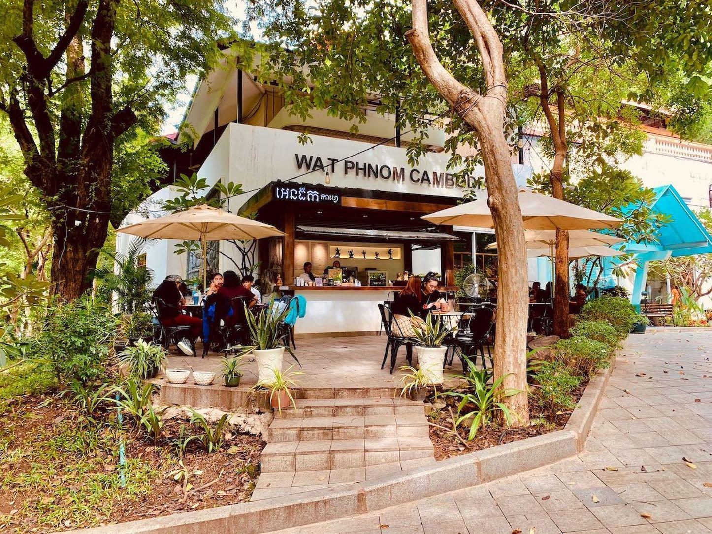 Wat Phnom Cafe Phnom Penh.