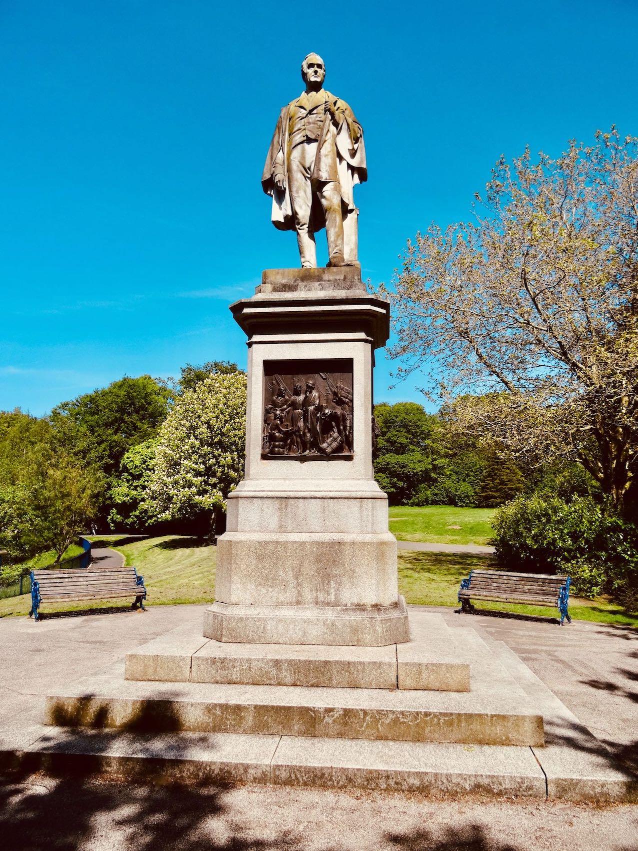 William Rathbone statue in Sefton Park Liverpool