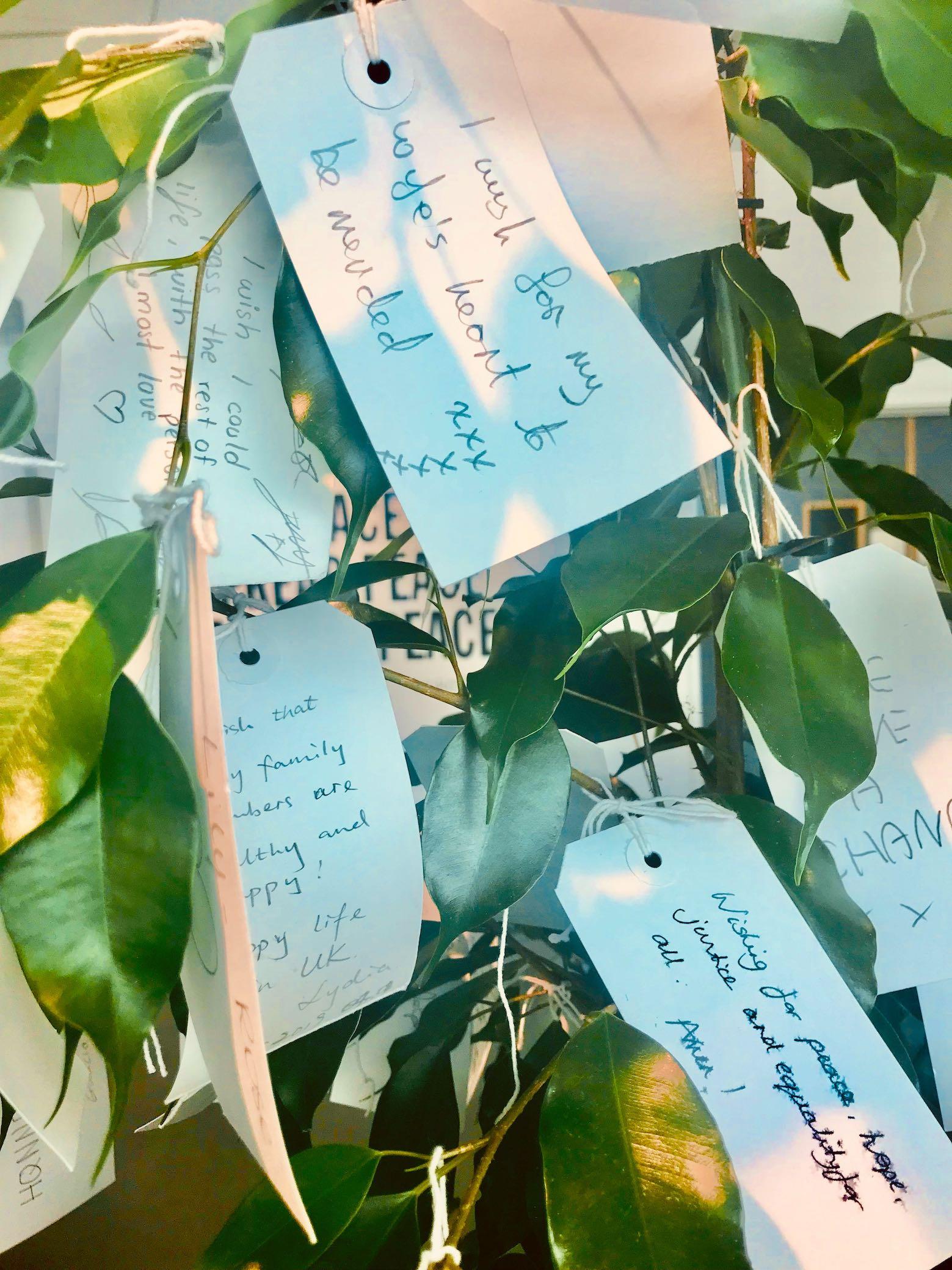 Wish trees Yoko Ono.