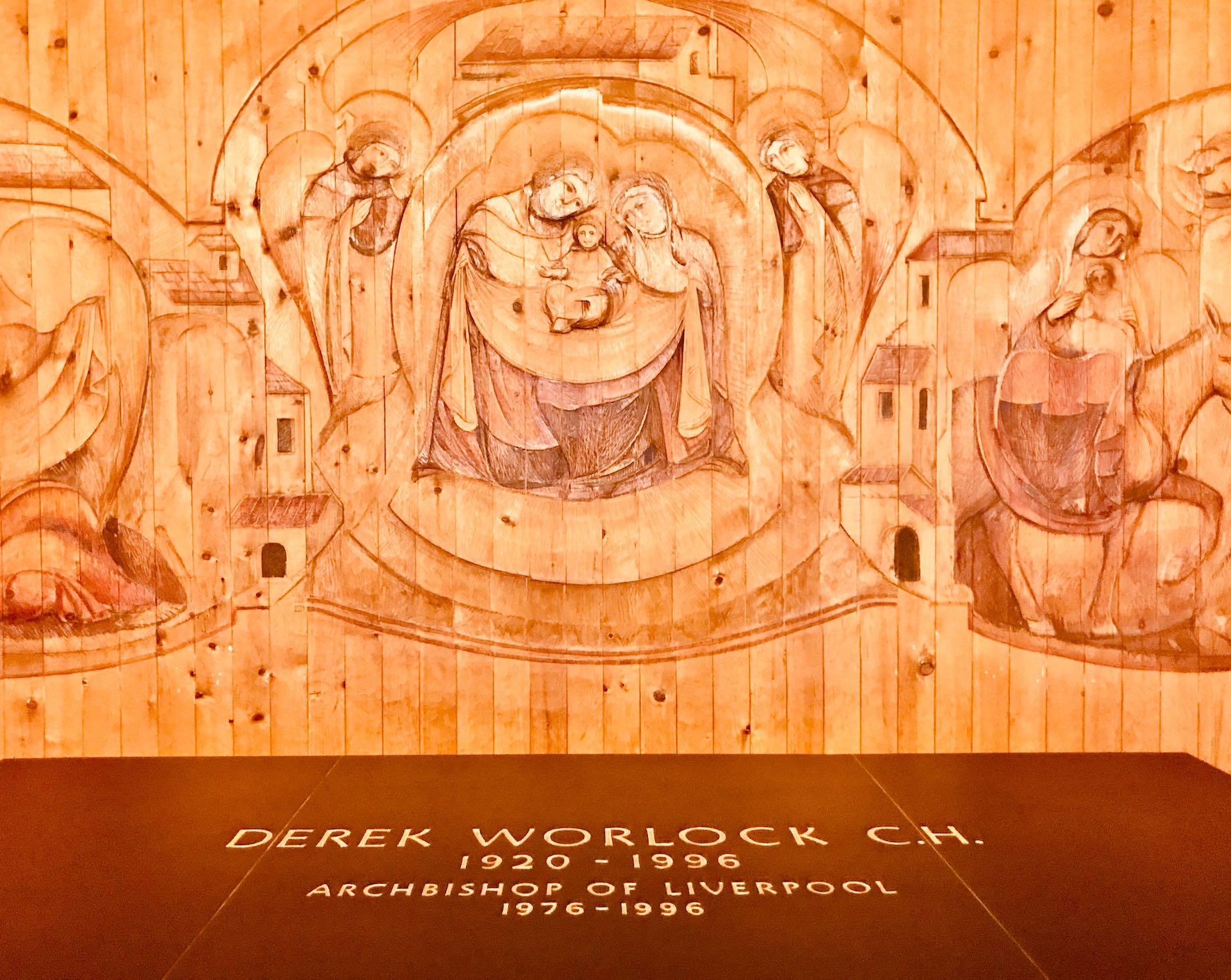 Wood carvings in St. Joseph's Chapel Liverpool Metropolitan Cathedral